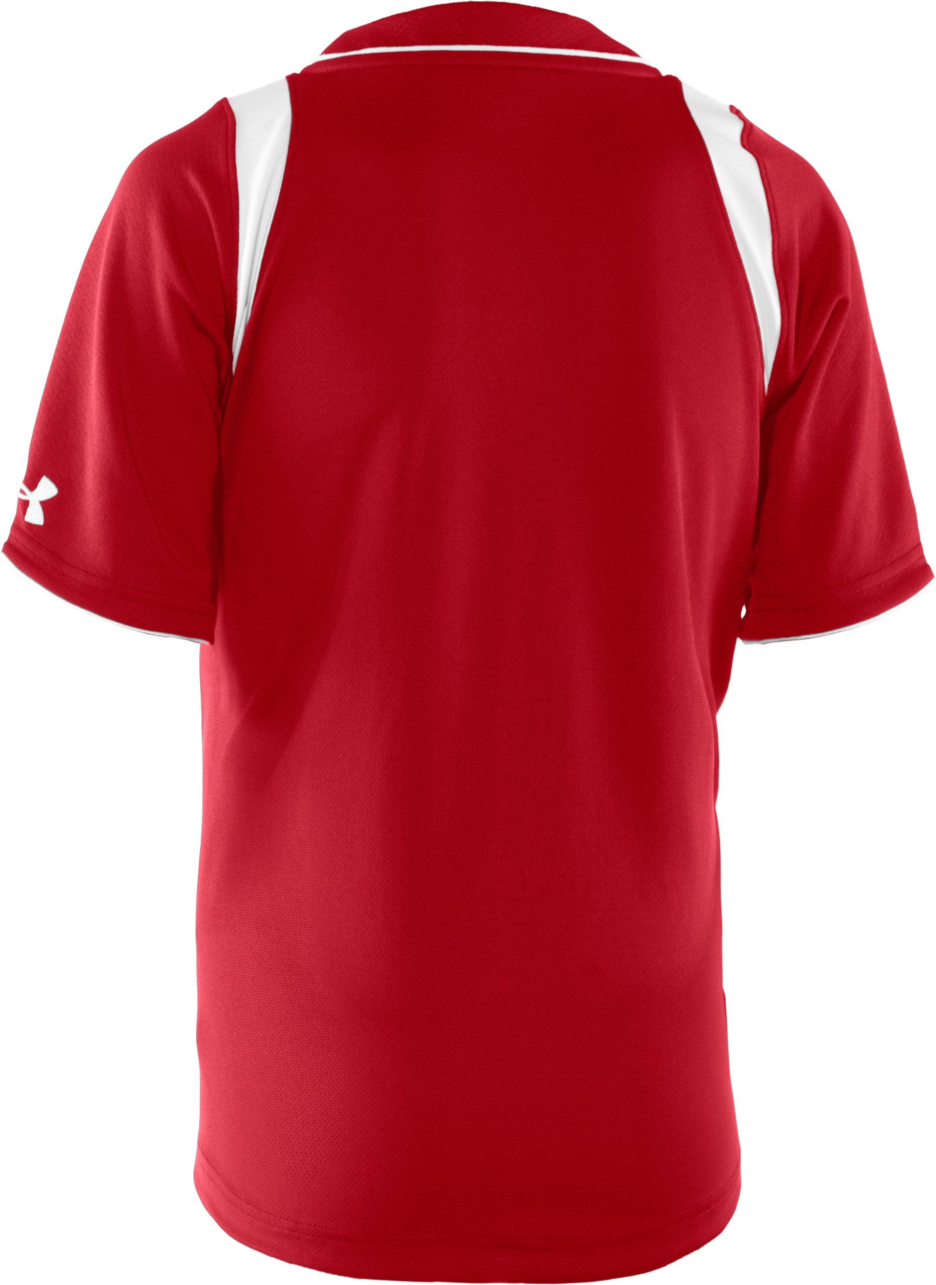 Boys' UA Tunnel Short Sleeve Jersey, Red, undefined