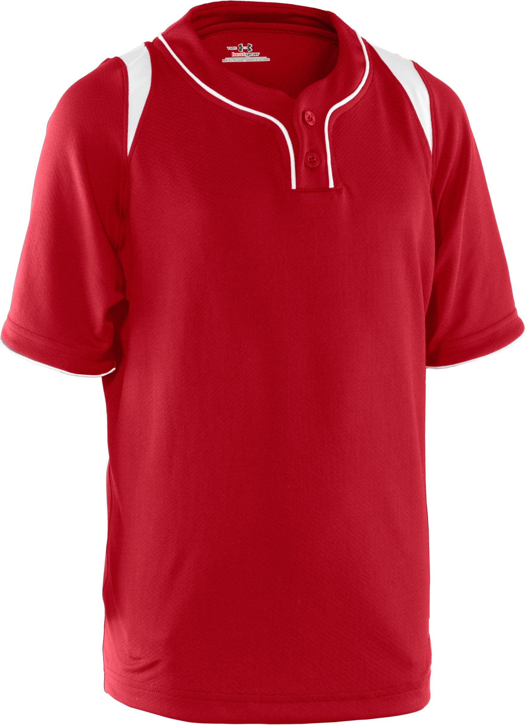 Boys' UA Tunnel Short Sleeve Jersey, Red