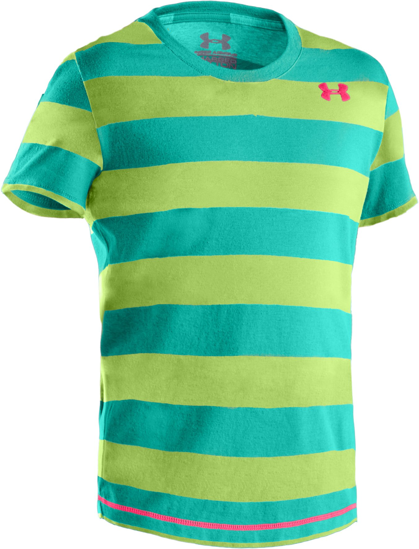 Girls' Charged Cotton® T-Shirt, Jade River, zoomed image