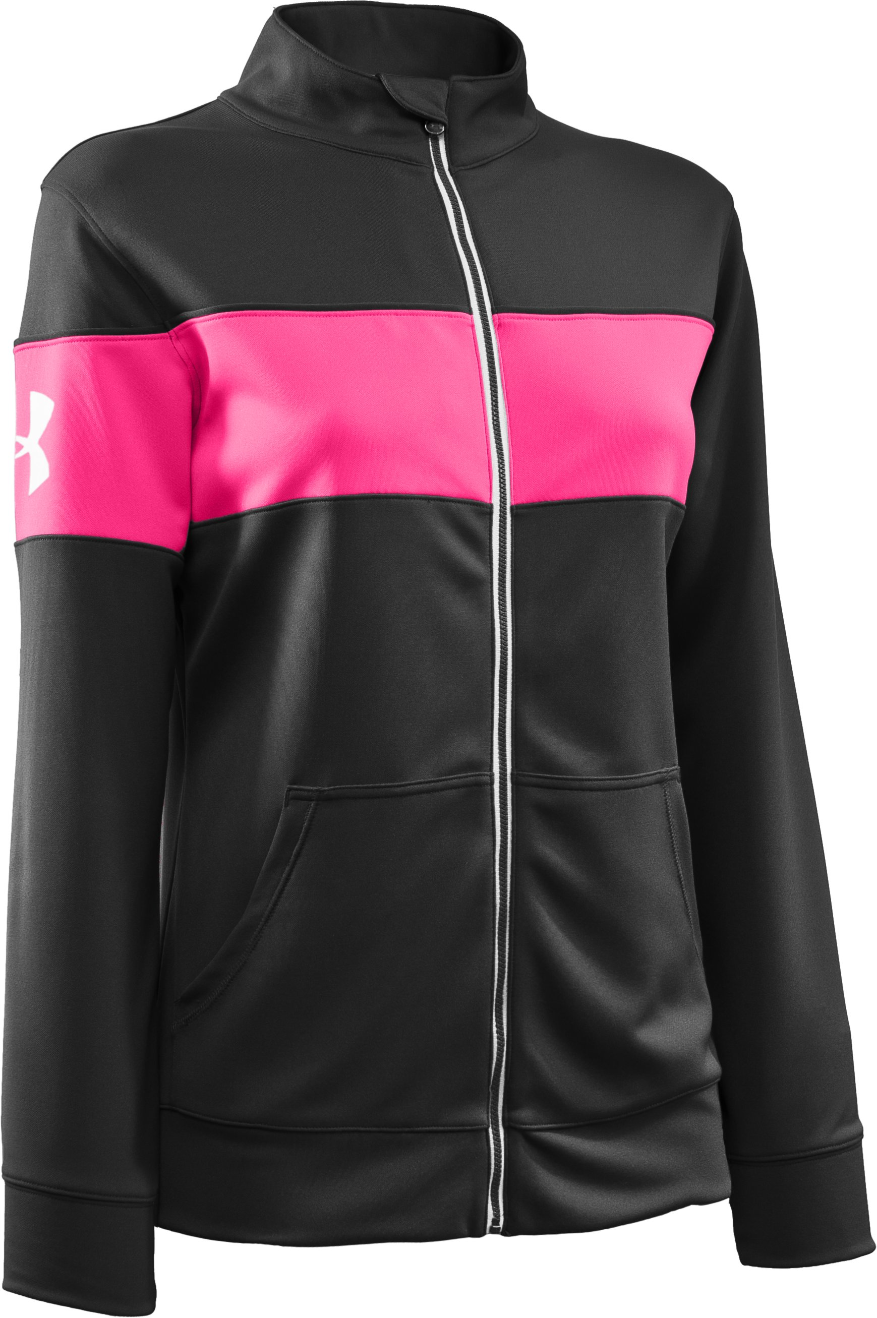 Women's UA Hero Full-Zip Warm-Up Jacket, Black , undefined