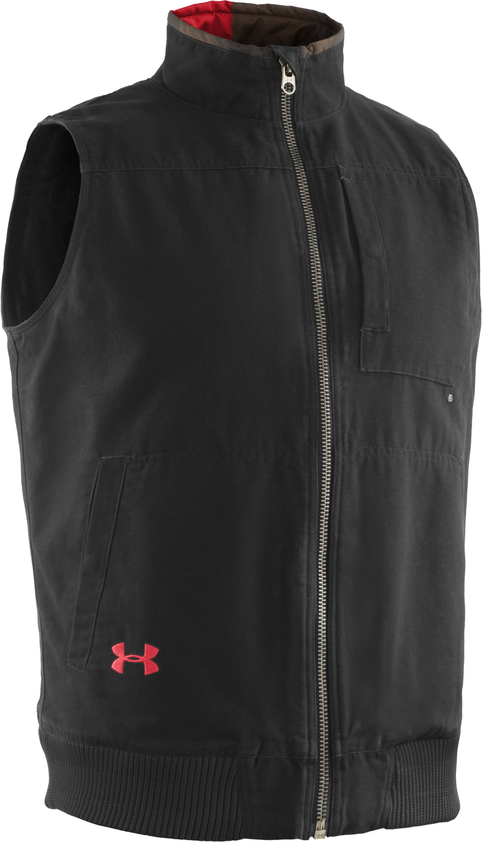 Men's Quilted Vest, Black