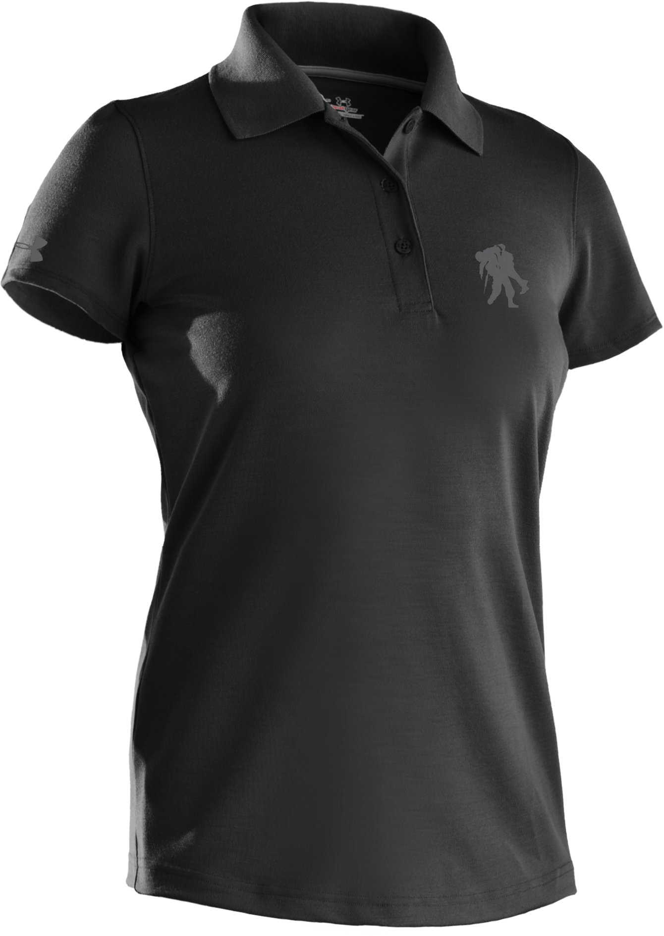 Women's WWP Polo Shirt, Black , undefined
