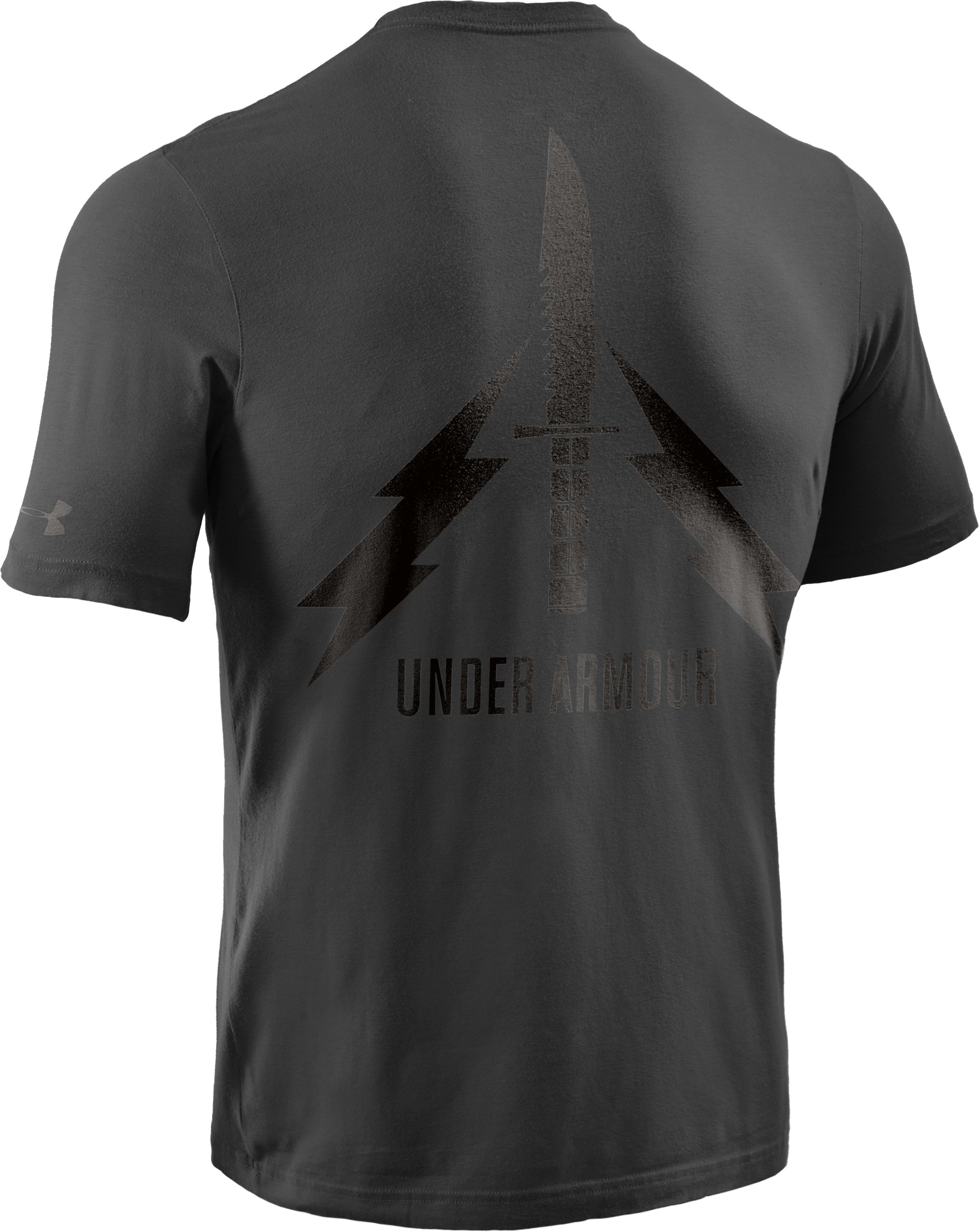 Men's Knife Charged Cotton® T-Shirt, Black