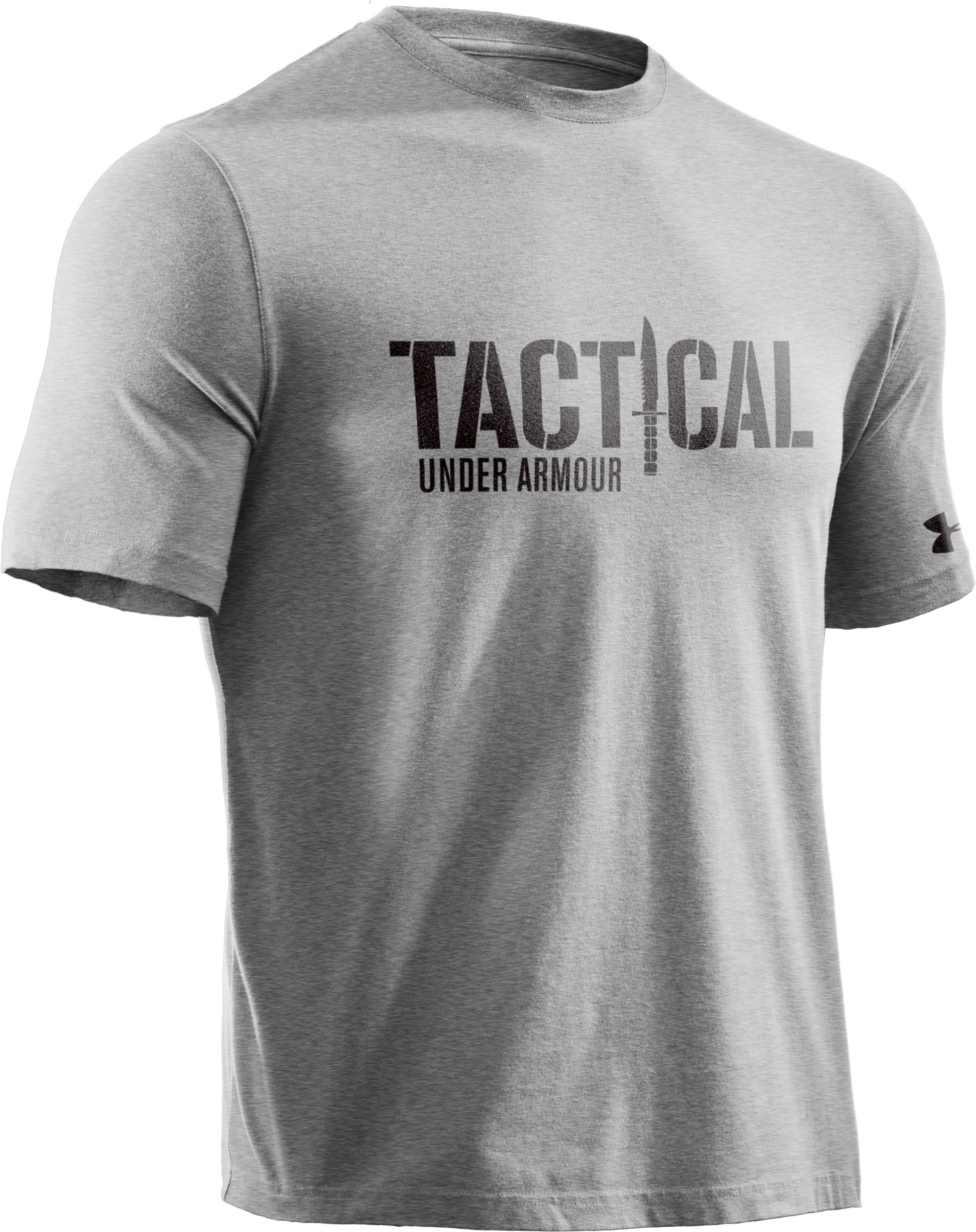 Men's Knife Charged Cotton® T-Shirt, True Gray Heather, undefined