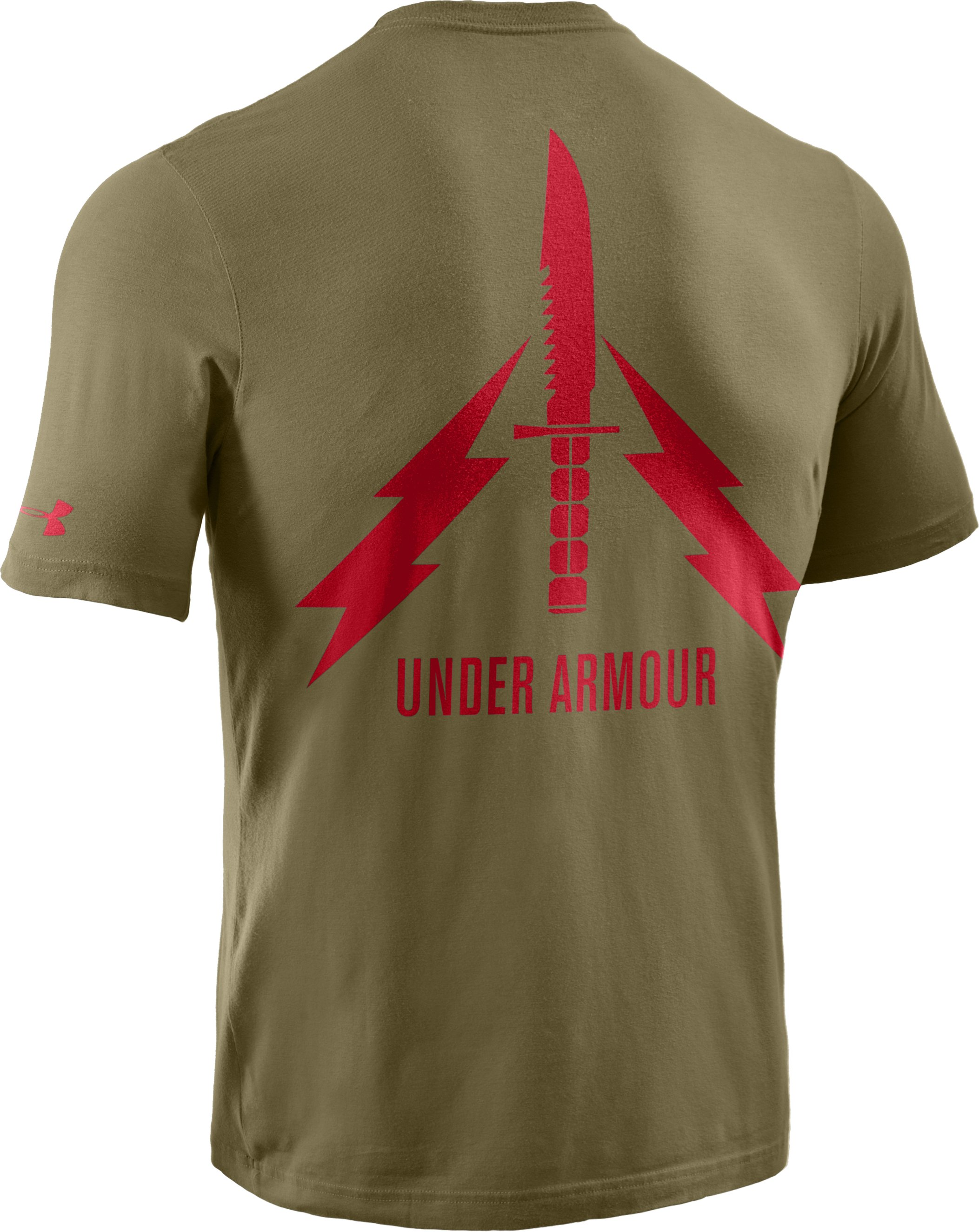 Men's Knife Charged Cotton® T-Shirt, Marine OD Green