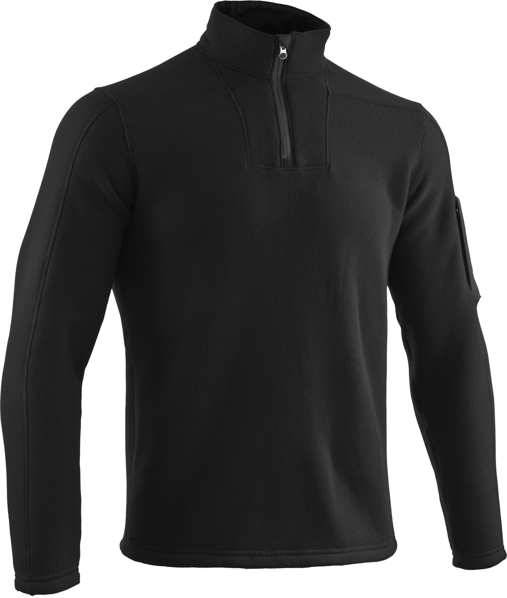 Men's UA Hundo® Mountain ¼ Zip Jacket, Black , undefined