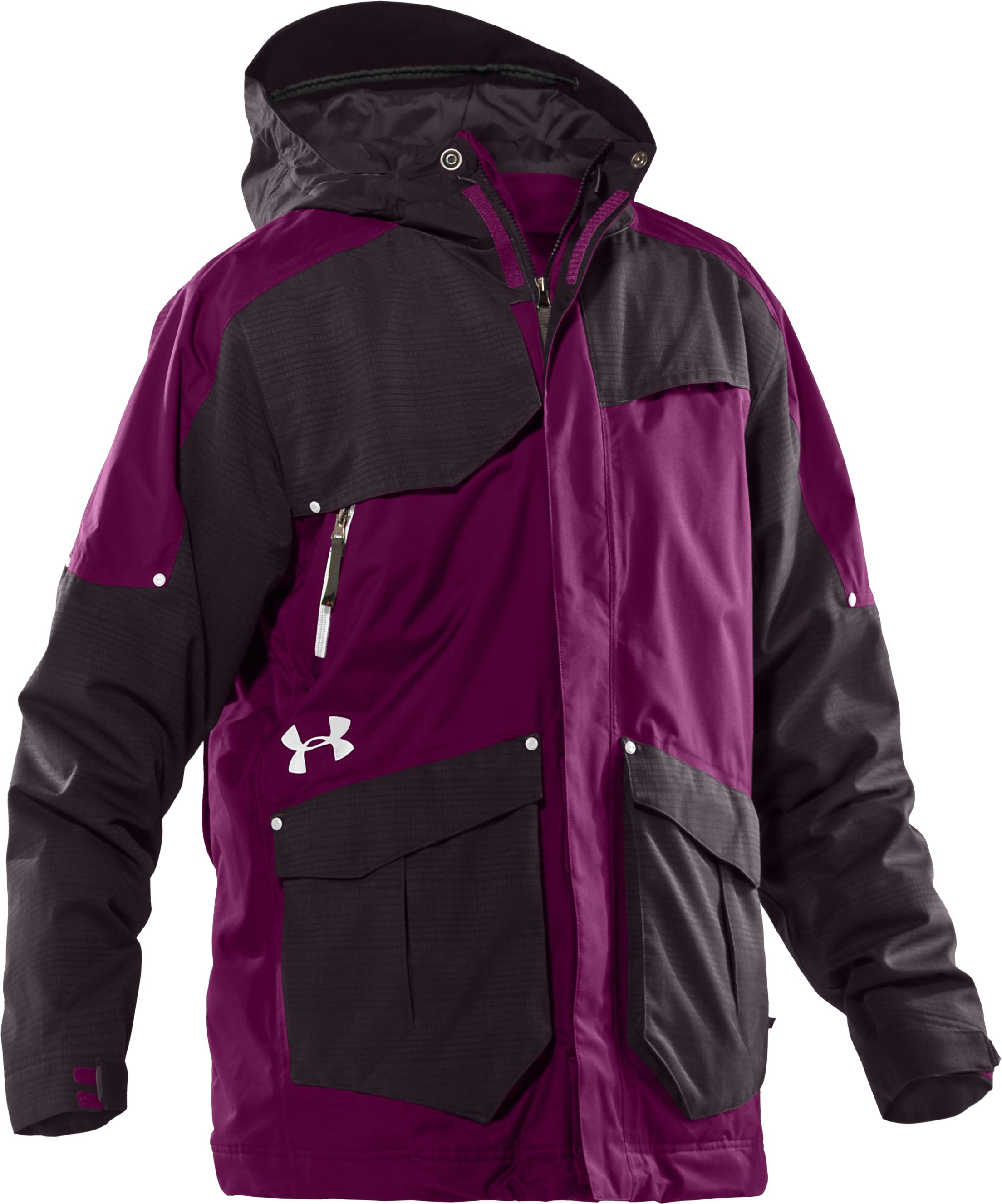 Men's UA Solid Insulated Jacket, Aubergine, undefined