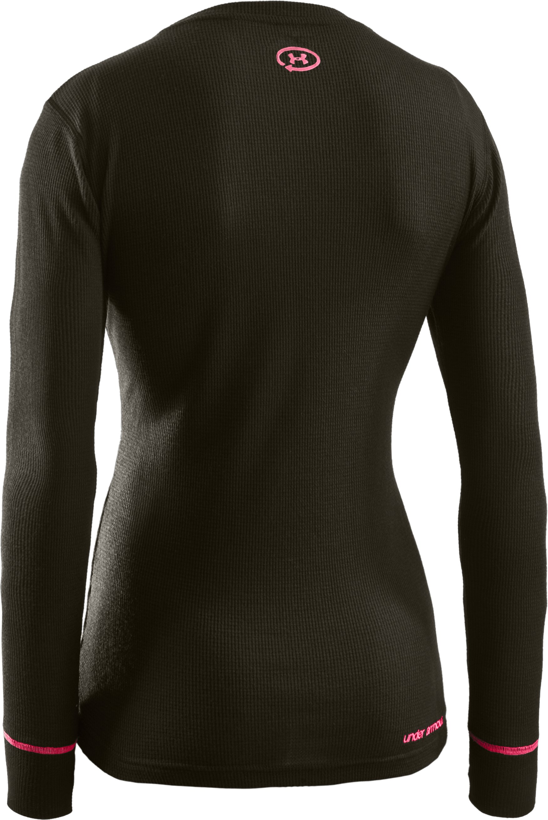 Women's Waffle Tackle Twill Long Sleeve Crew, Rifle Green