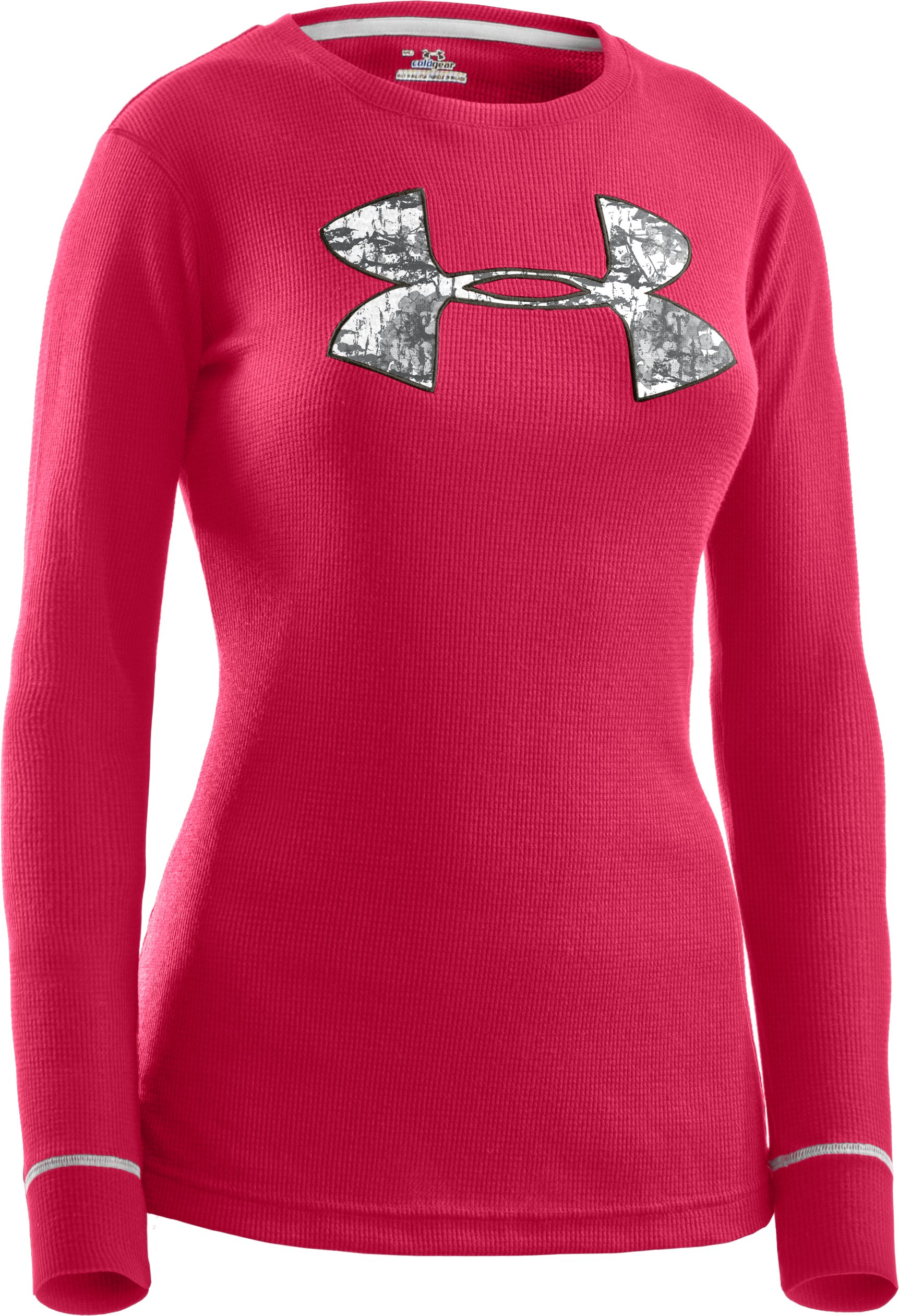 Women's Waffle Tackle Twill Long Sleeve Crew, Perfection, undefined