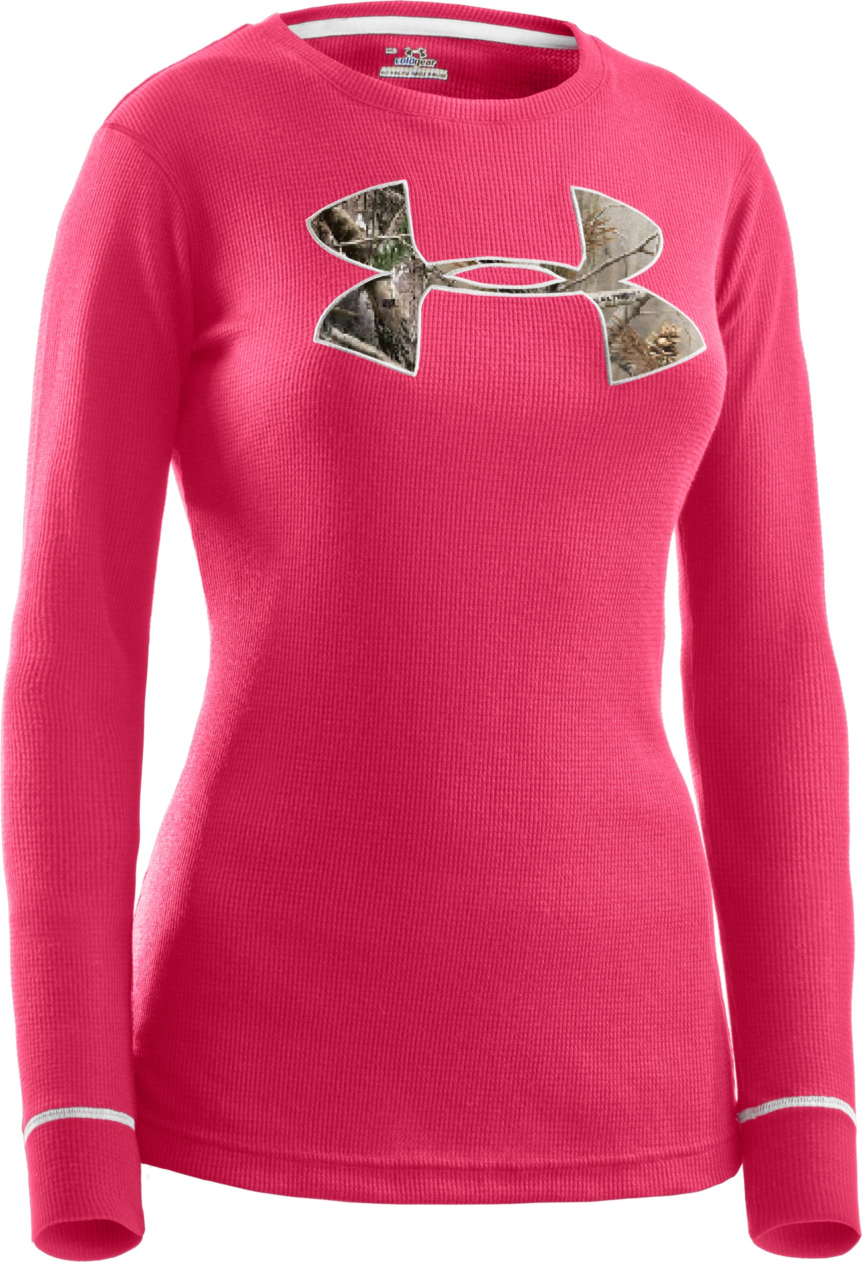 Women's Waffle Tackle Twill Long Sleeve Crew, Perfection,