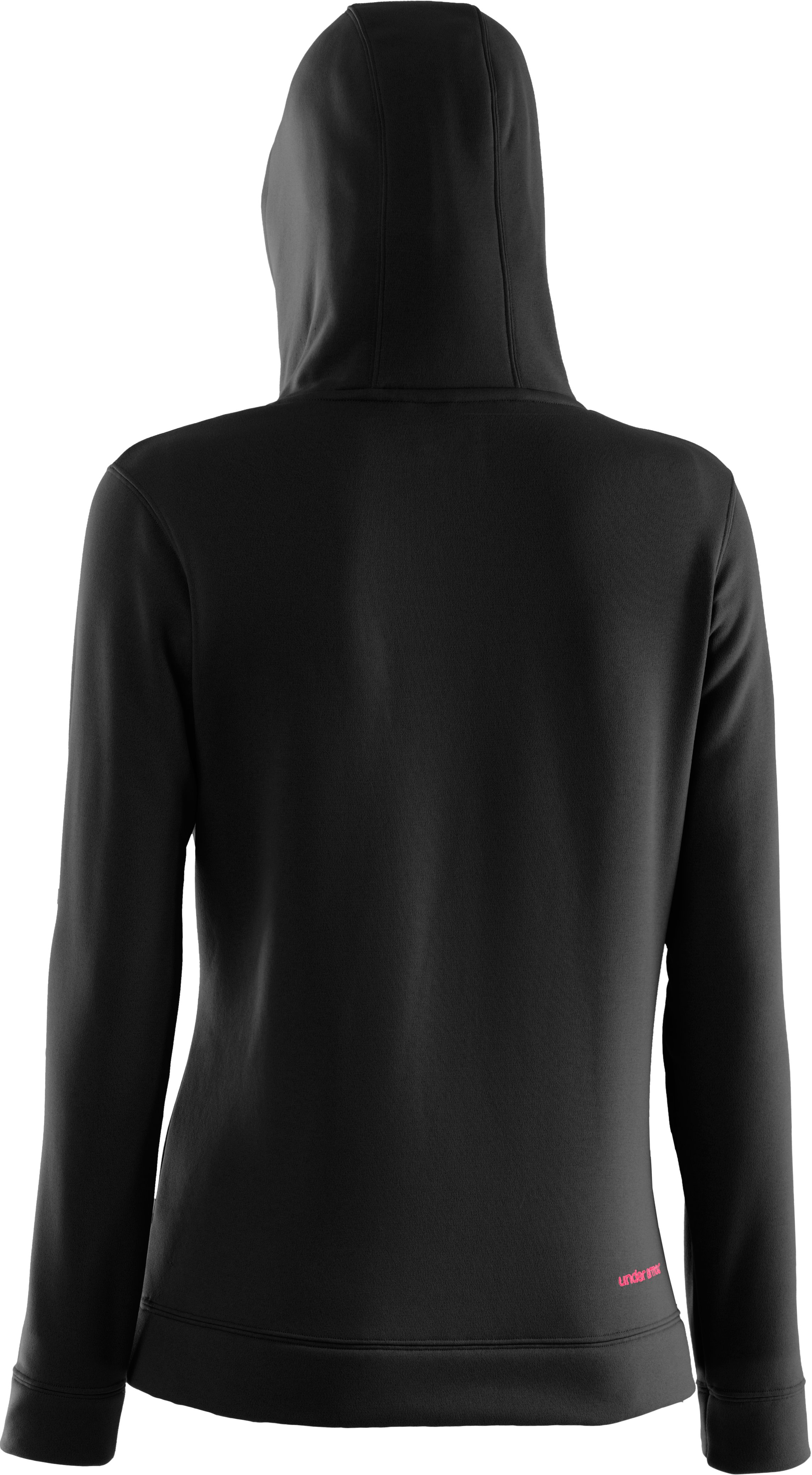Women's UA Storm Tackle Twill Hoodie, Black , undefined