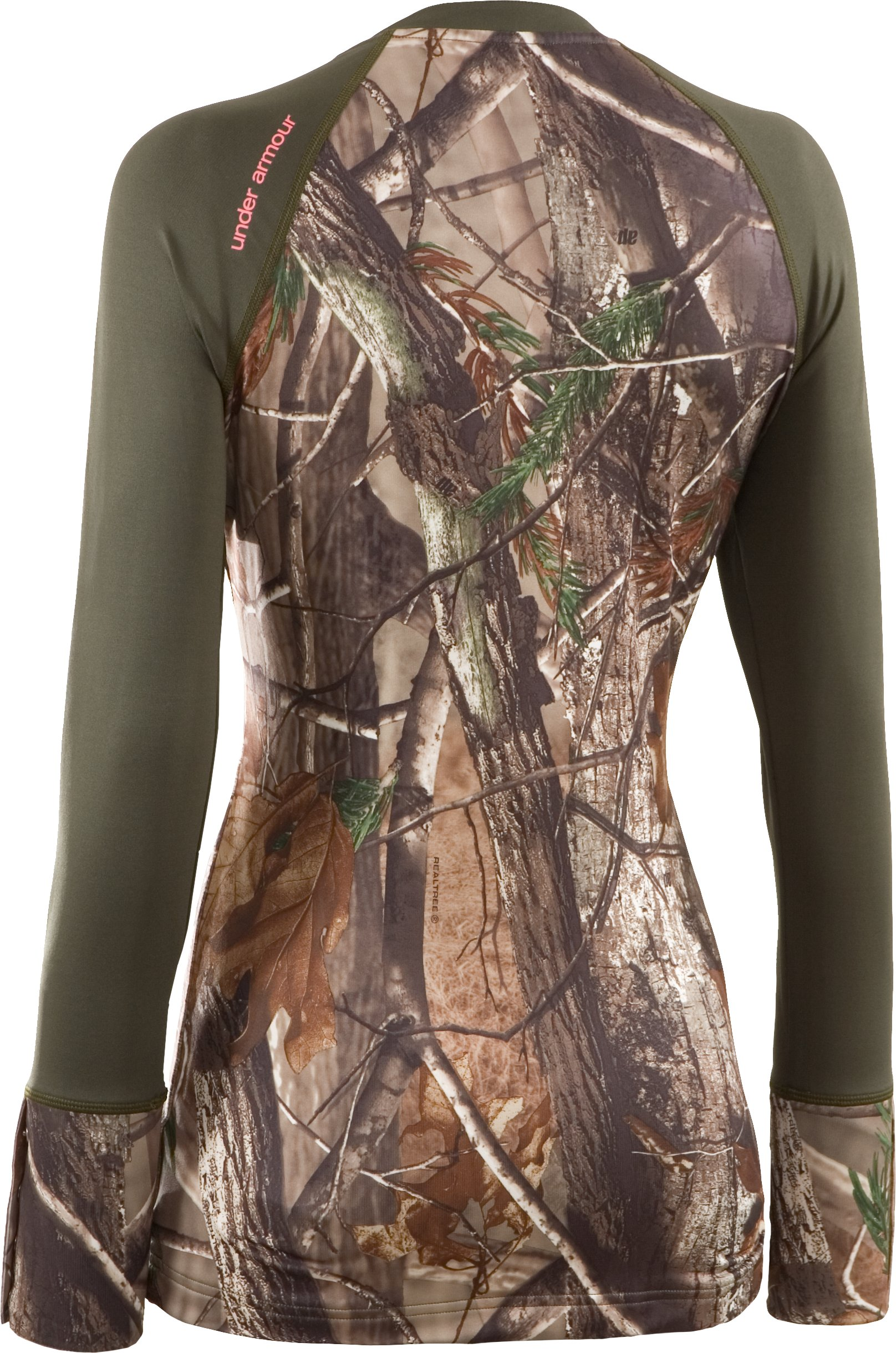Women's EVO ColdGear® Camouflage Henley Shirt, Realtree AP, undefined