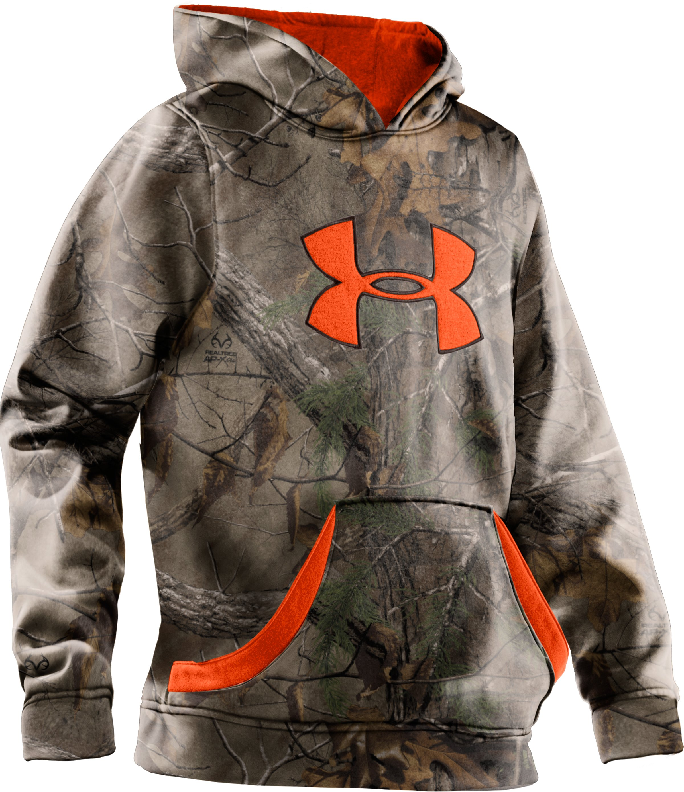 Boys' Camouflage Big Logo Hoodie, REALTREE AP-XTRA, zoomed image