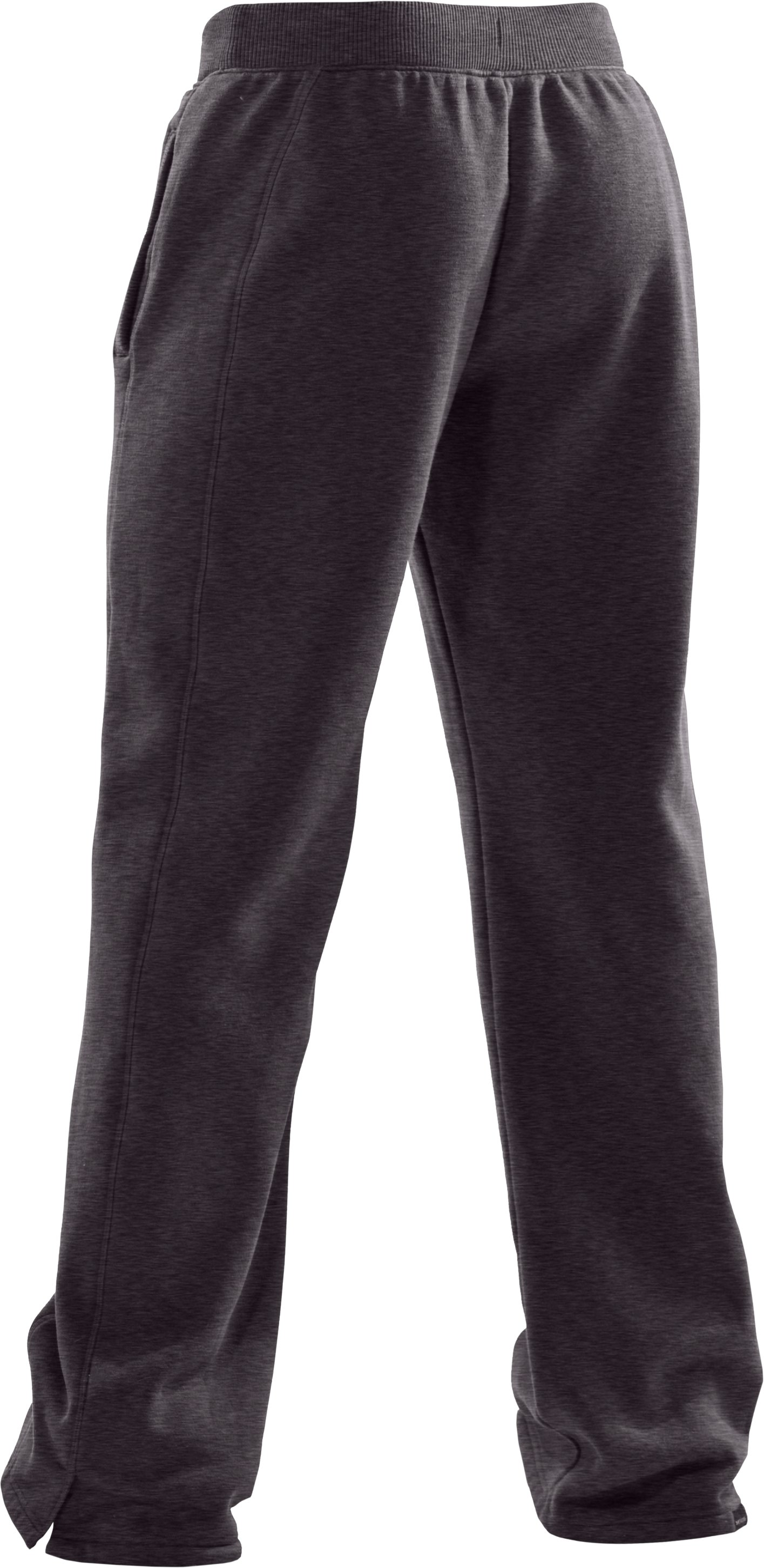 Women's UA Charged Cotton® Storm Fleece Pants, Carbon Heather,