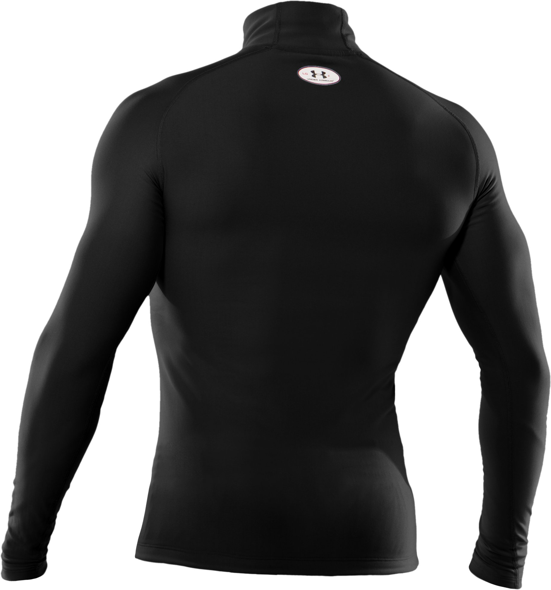 Men's ColdGear® Evo Long Sleeve Compression Mock, Black , undefined