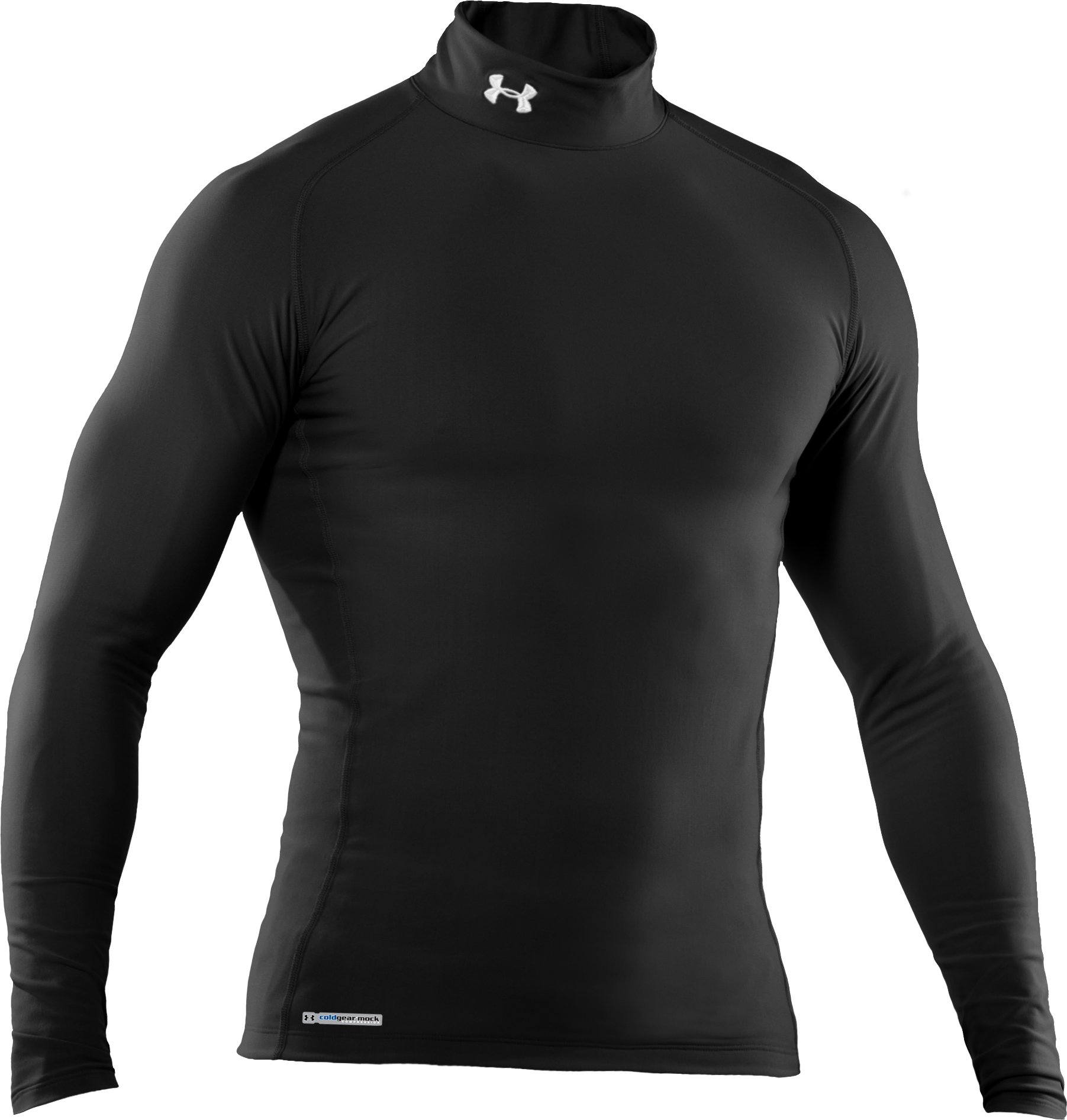 Men's ColdGear® Evo Long Sleeve Compression Mock, Black