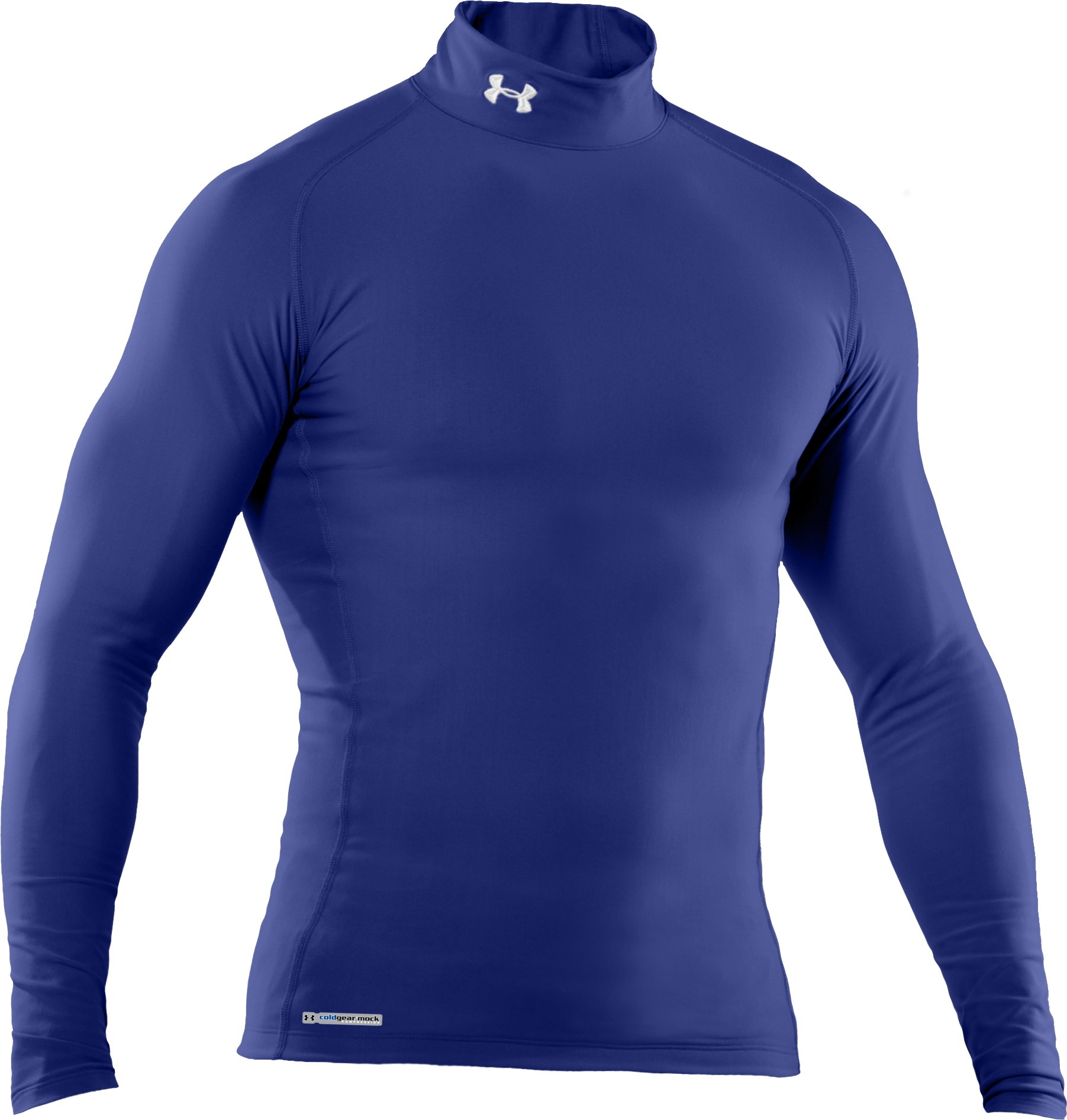 Men's ColdGear® Evo Long Sleeve Compression Mock, Royal