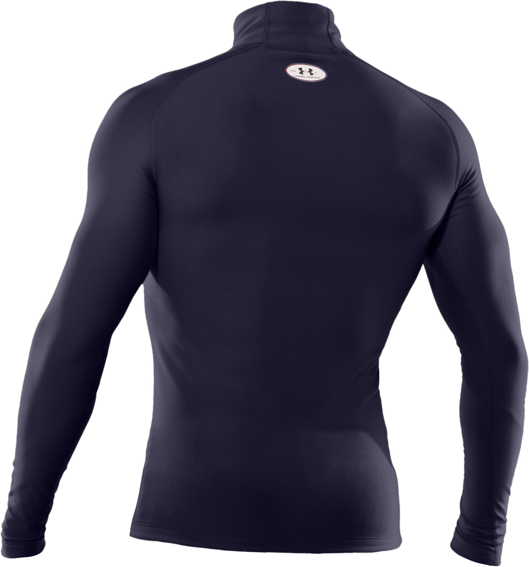 Men's ColdGear® Evo Long Sleeve Compression Mock, Midnight Navy
