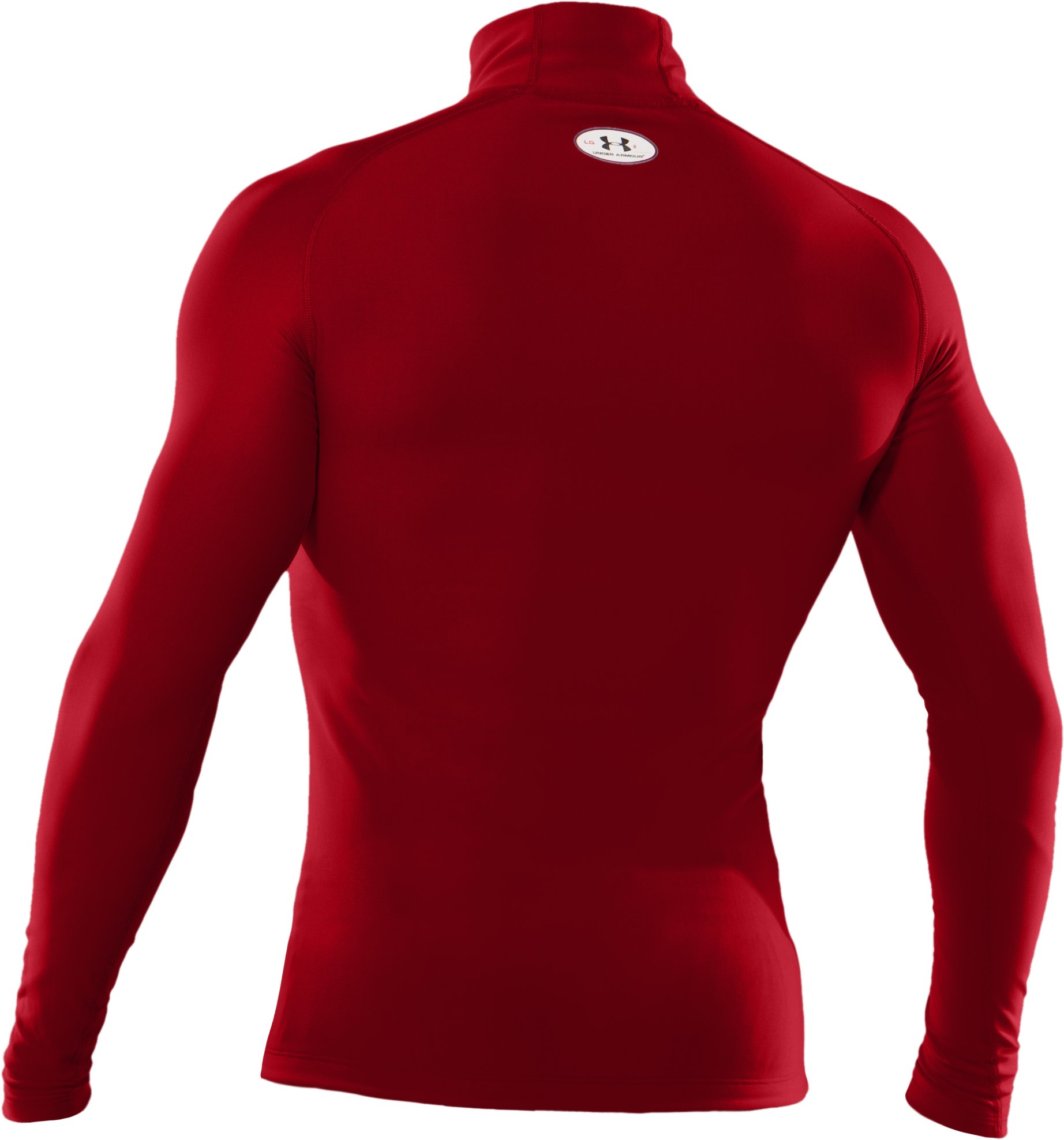 Men's ColdGear® Evo Long Sleeve Compression Mock, Red,