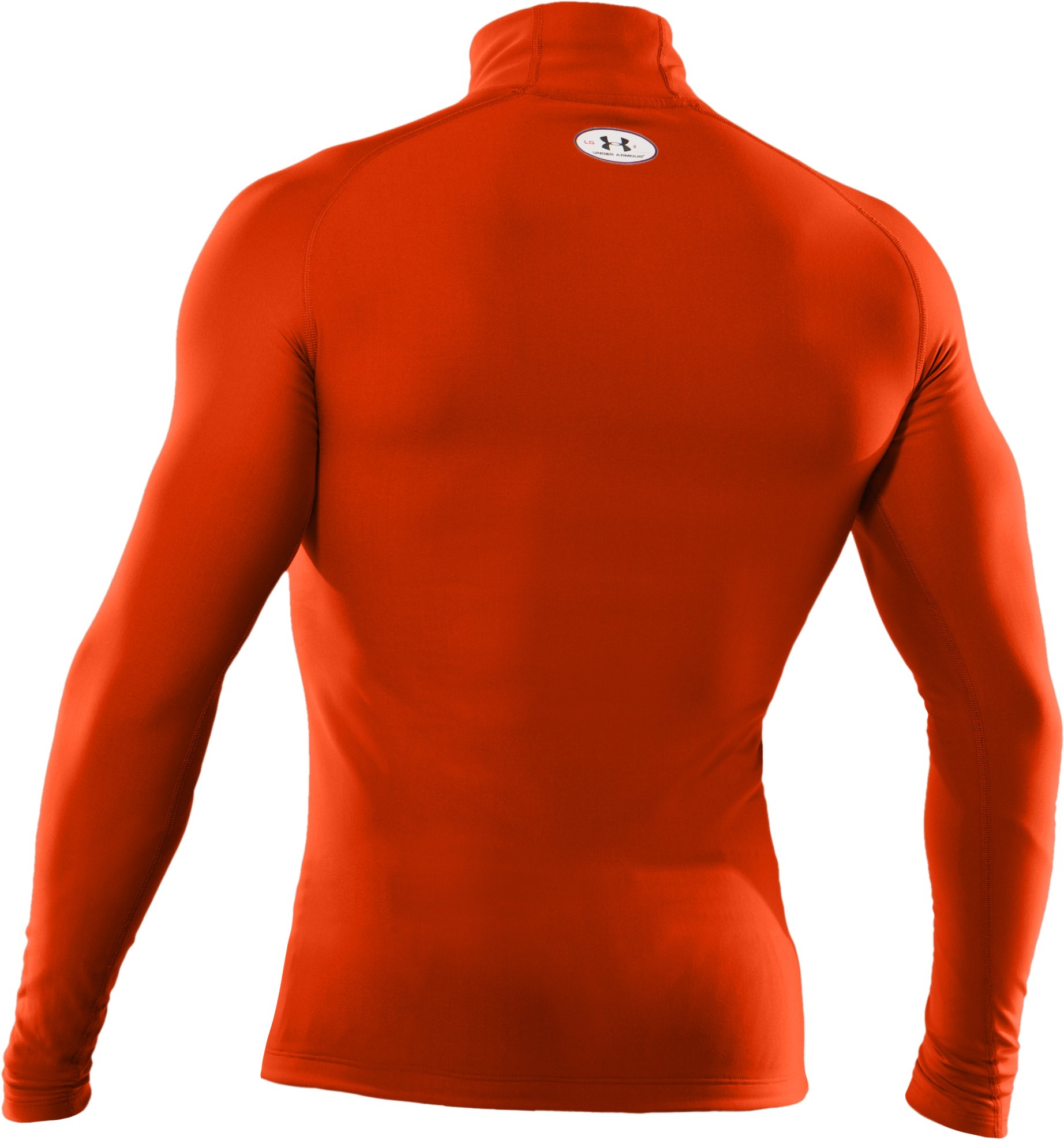 Men's ColdGear® Evo Long Sleeve Compression Mock, Dark Orange,