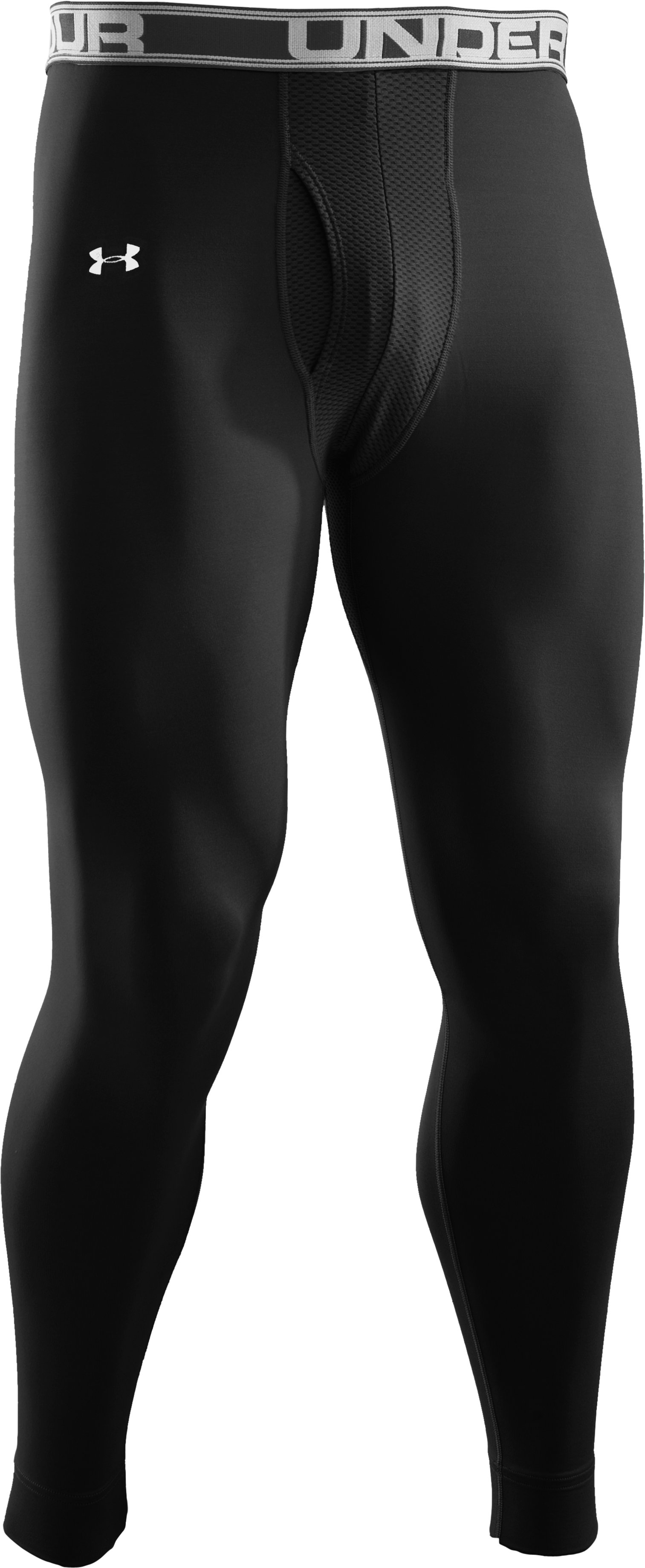 Men's UA Evo ColdGear® Ventilated Compression Legging, Black , undefined