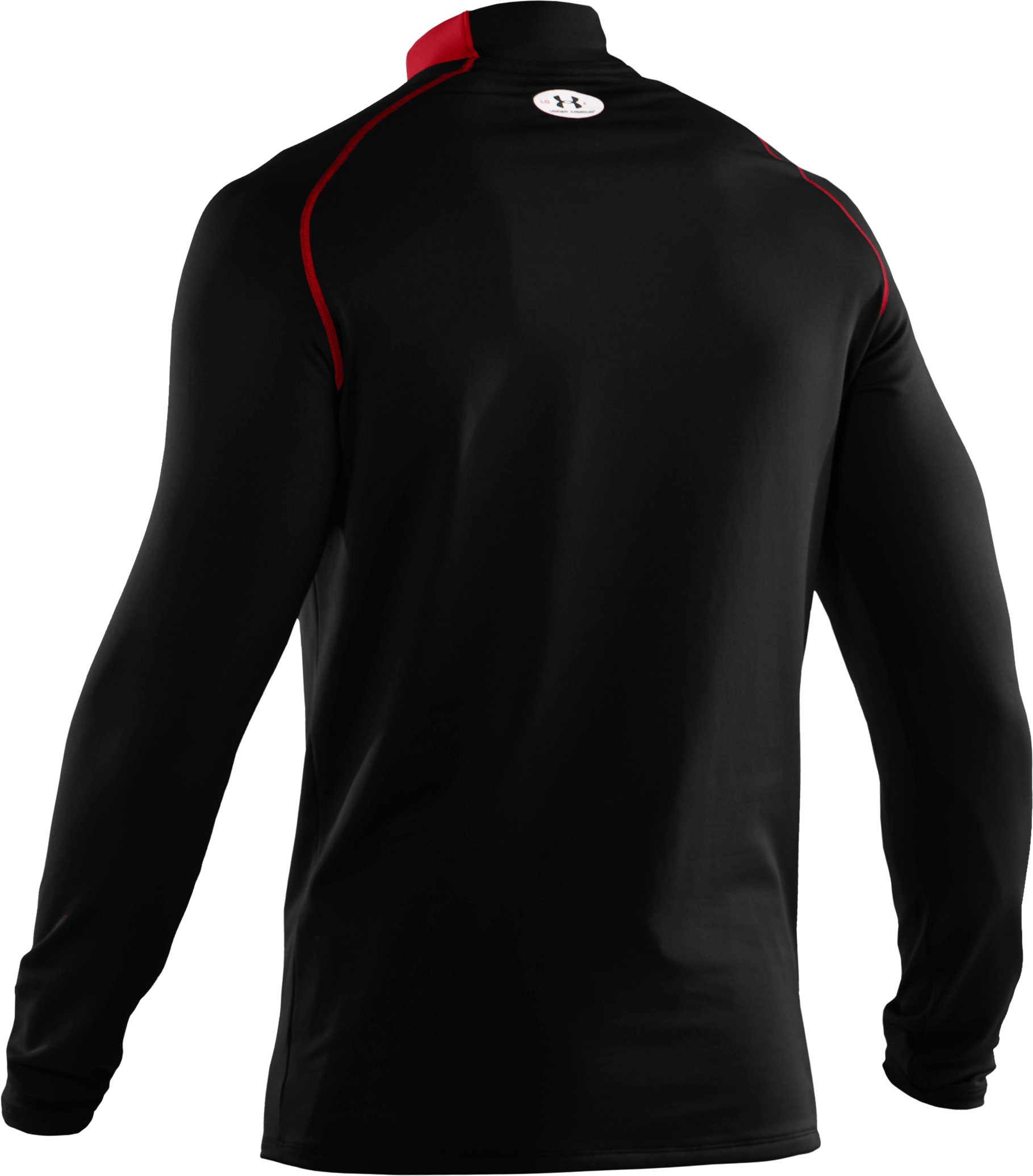 Men's ColdGear® Fitted Long Sleeve Team Mock II, Black