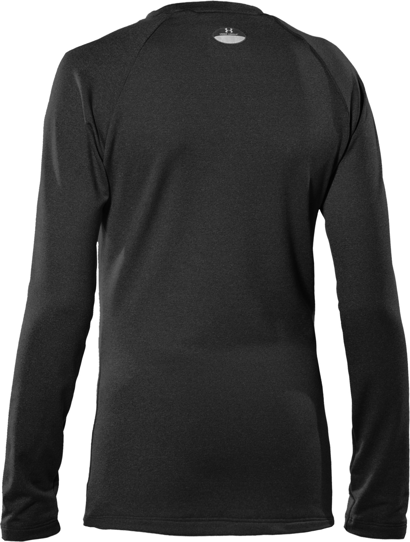 Girls' ColdGear® Fitted Long Sleeve Crew, Black ,