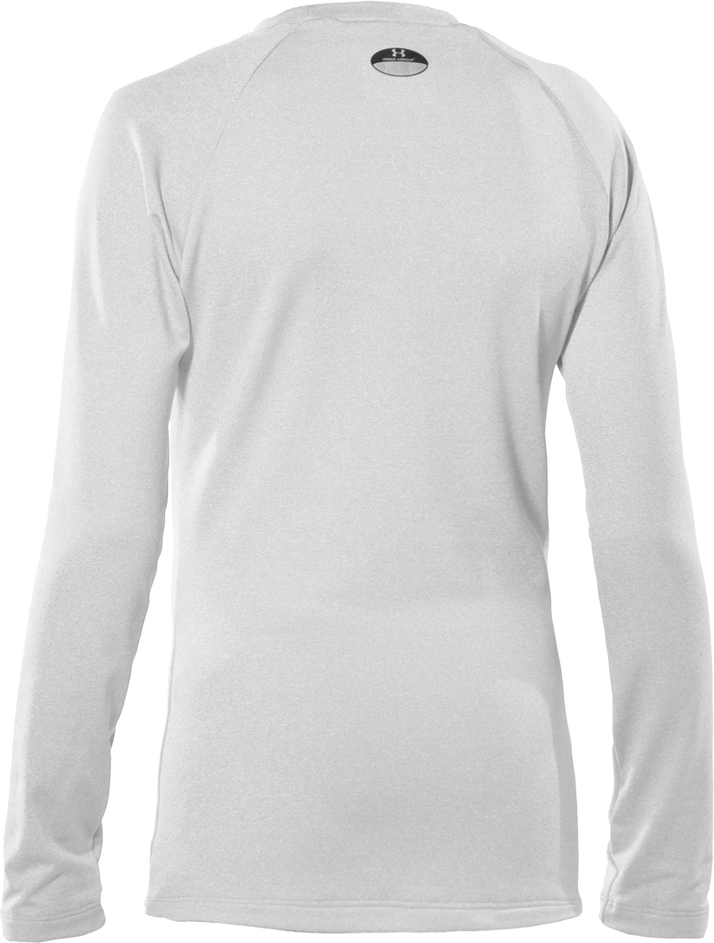 Girls' ColdGear® Fitted Long Sleeve Crew, White