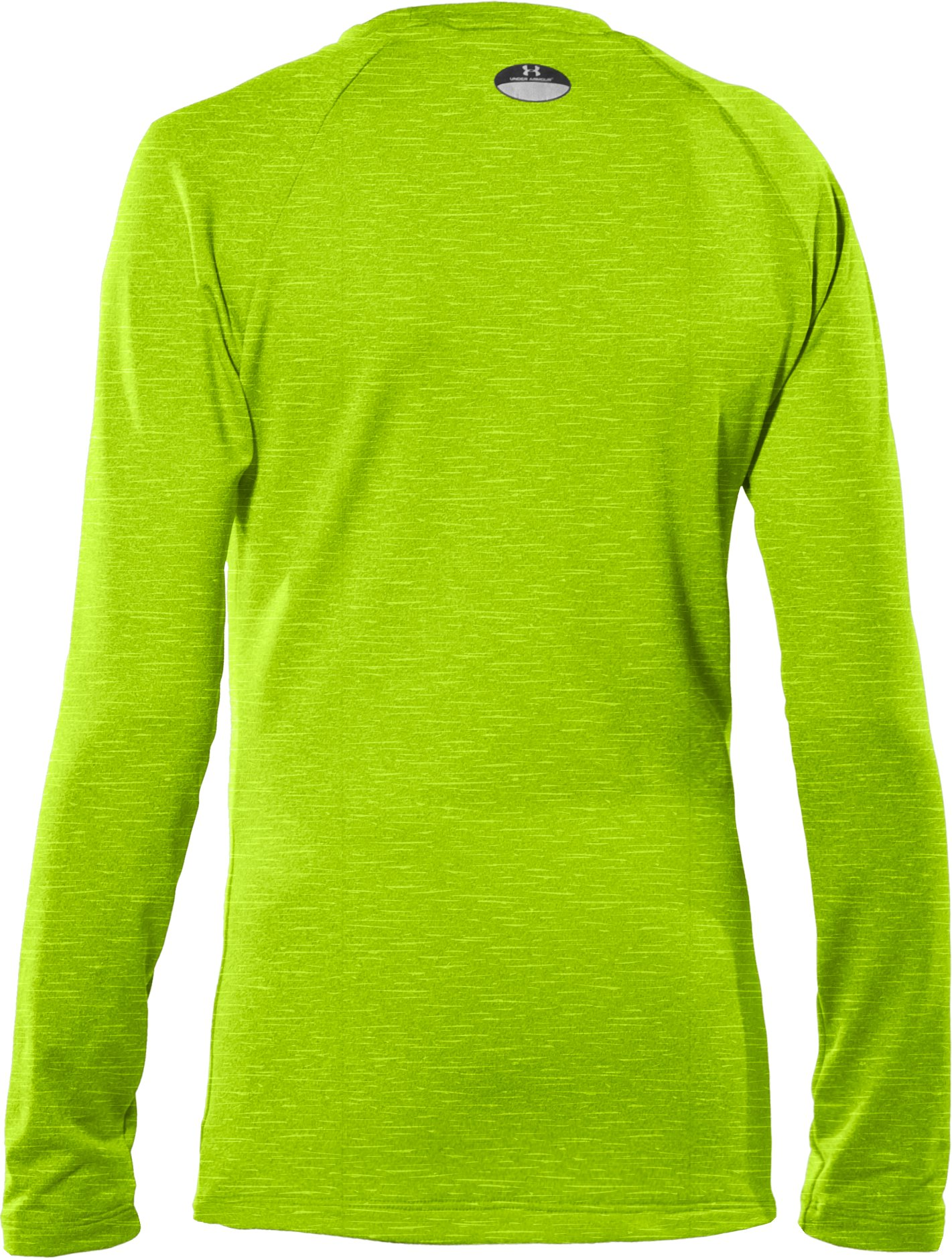 Girls' ColdGear® Fitted Long Sleeve Crew, HYPER GREEN