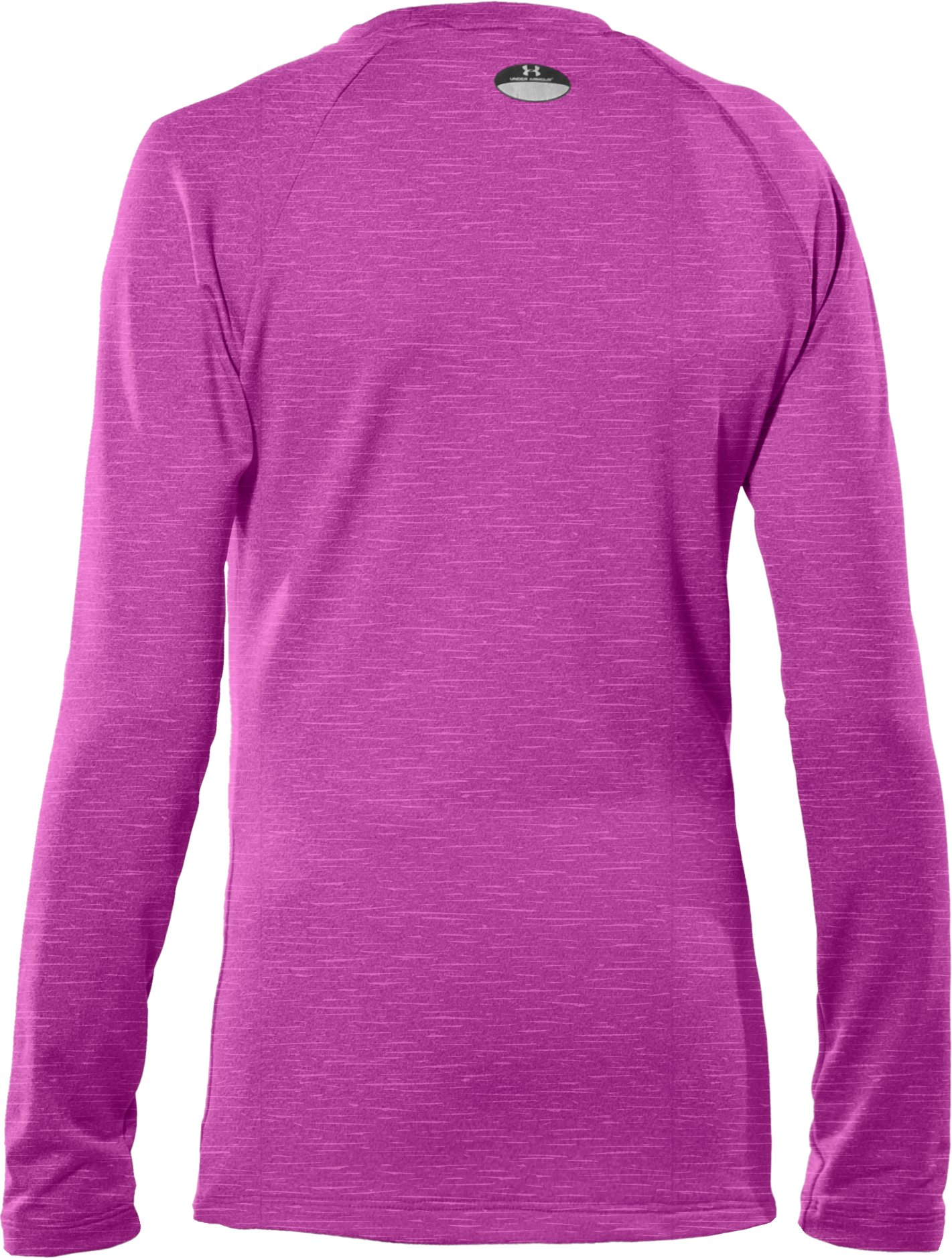 Girls' ColdGear® Fitted Long Sleeve Crew, STROBE
