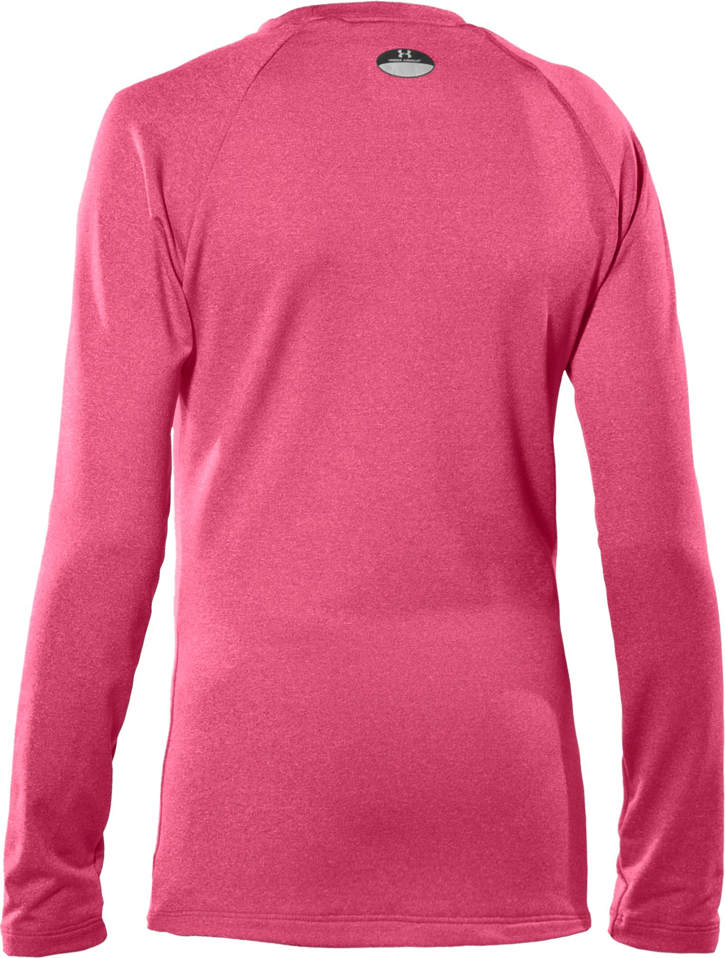 Girls' ColdGear® Fitted Long Sleeve Crew, Ultra,