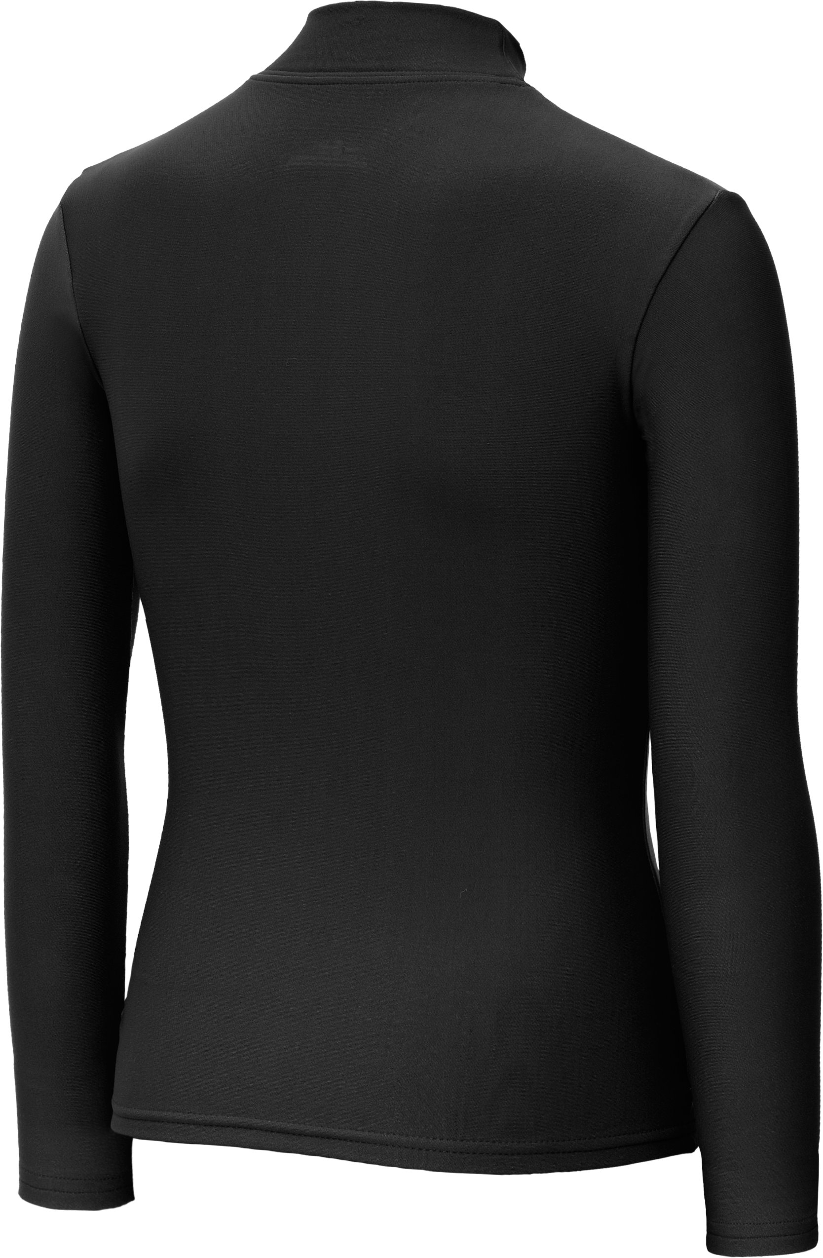 Girls' ColdGear® Fitted Long Sleeve Mock, Black