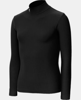 New to Outlet Girls' ColdGear® Fitted Long Sleeve Mock  1 Color $23.99