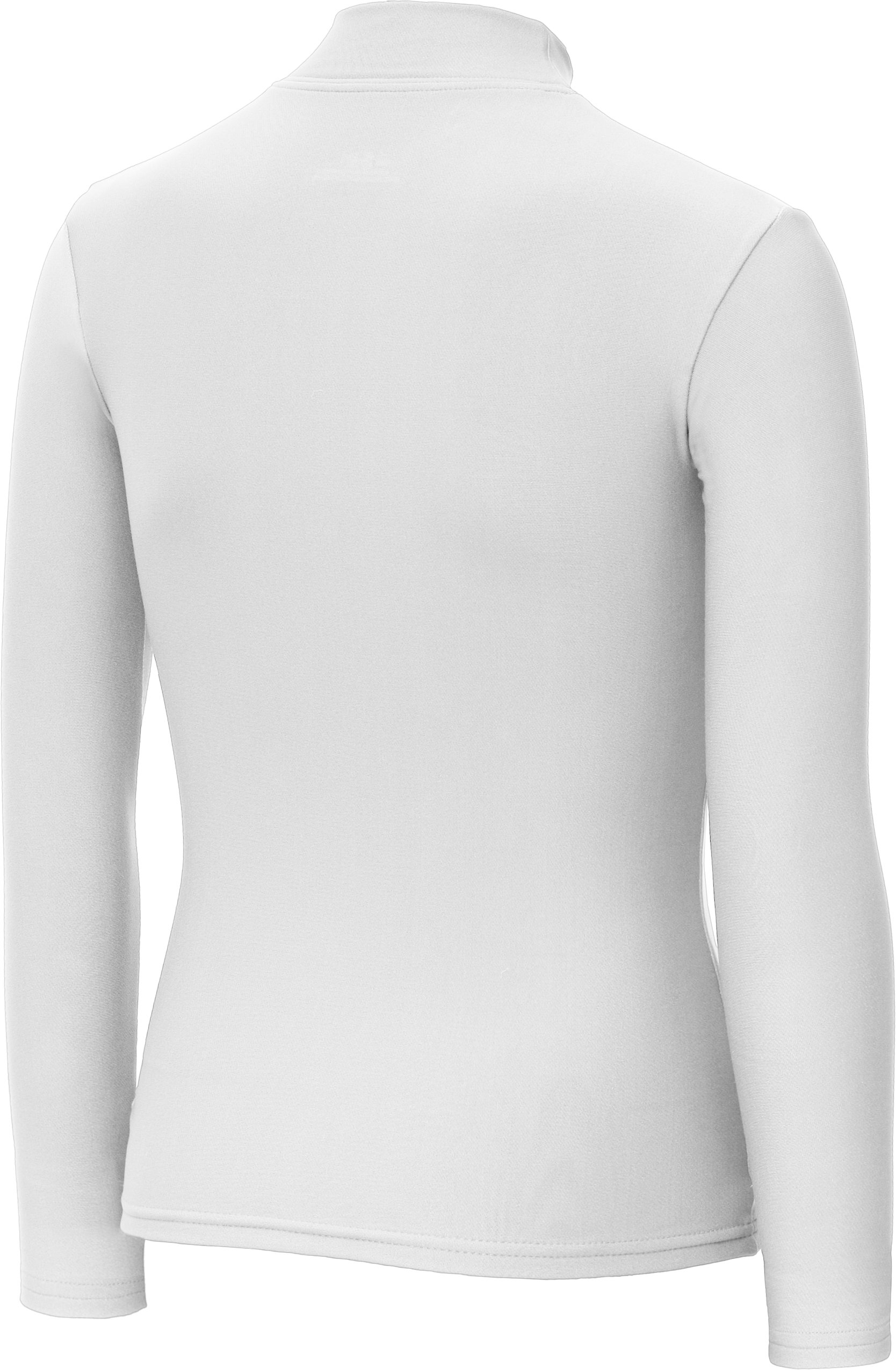 Girls' ColdGear® Fitted Long Sleeve Mock, White, undefined