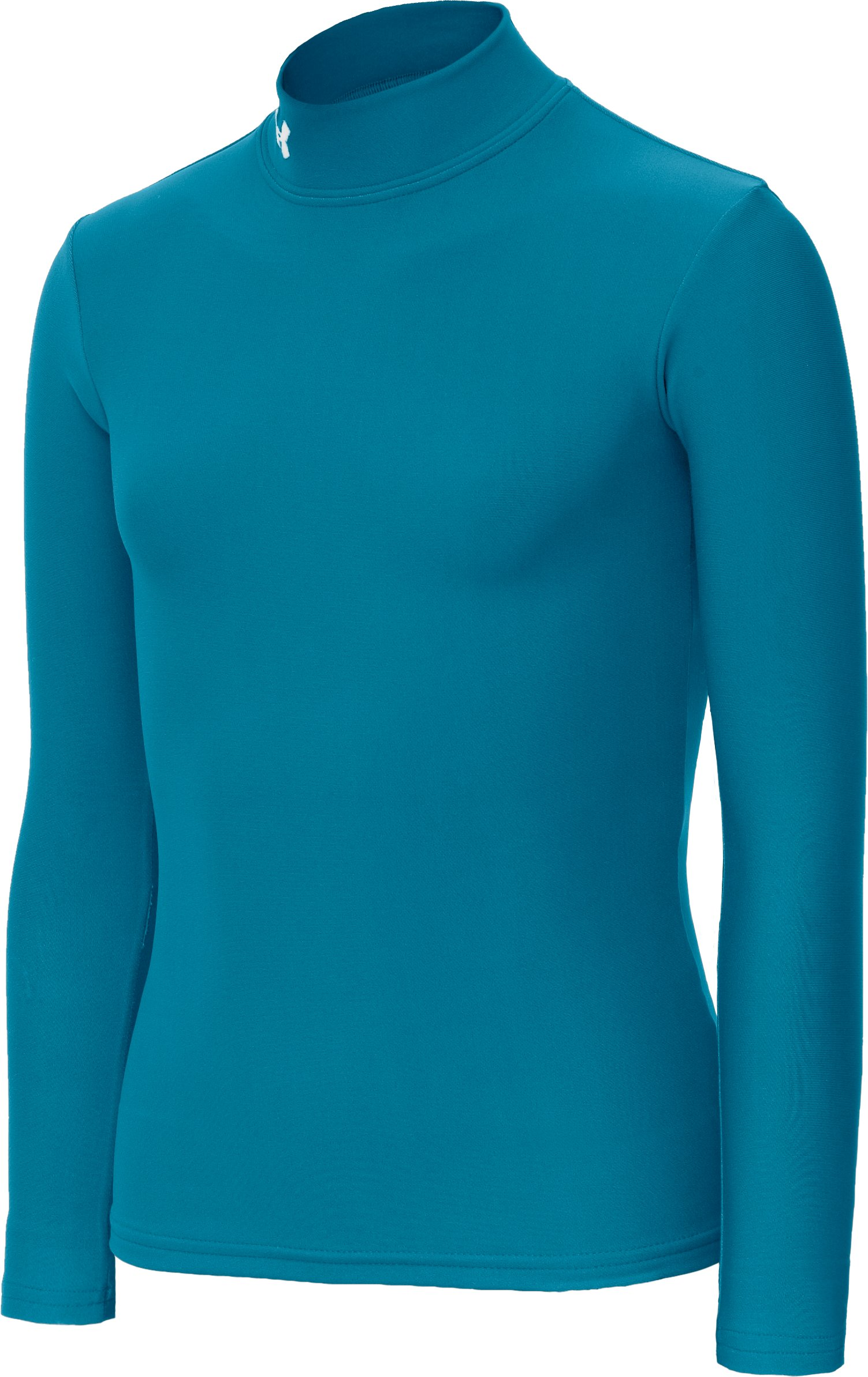 Girls' ColdGear® Fitted Long Sleeve Mock, Break,
