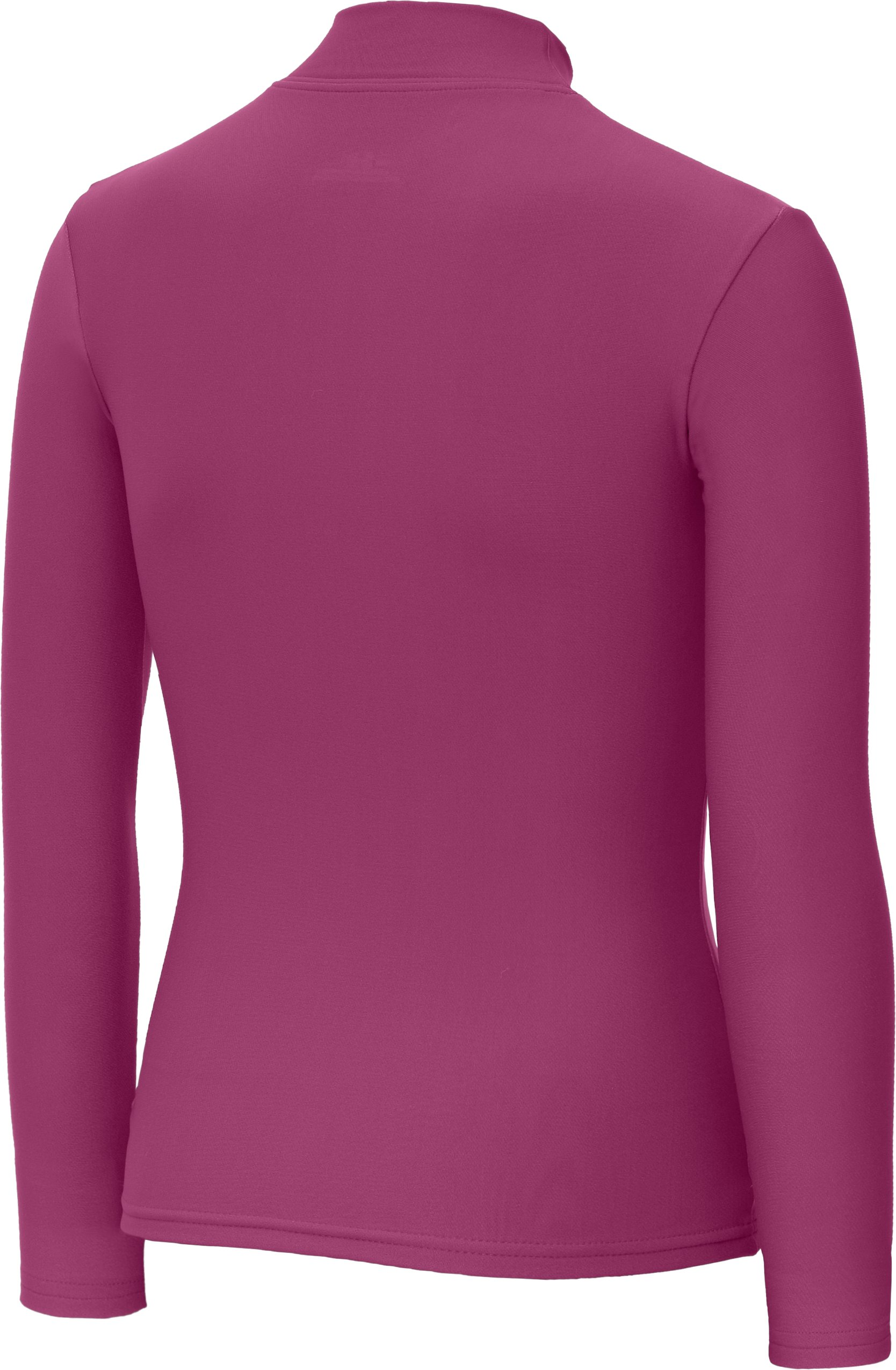 Girls' ColdGear® Fitted Long Sleeve Mock, Rosewood
