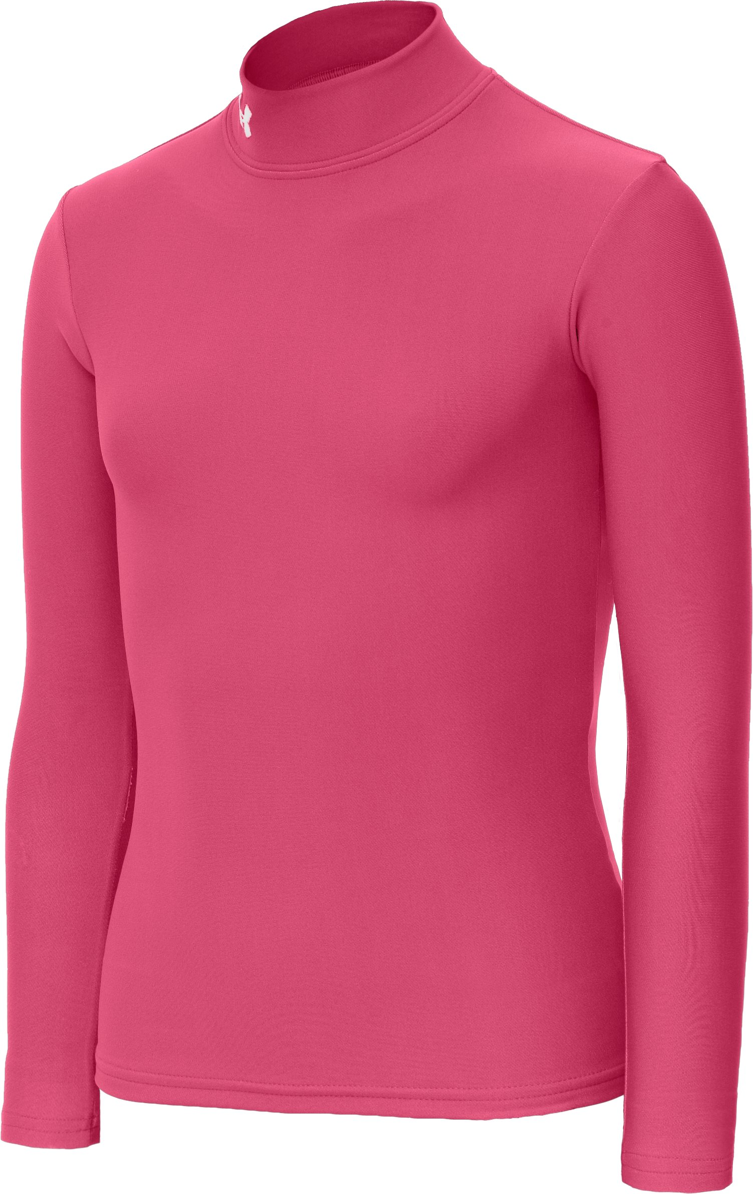 Girls' ColdGear® Fitted Long Sleeve Mock, Ultra, zoomed image