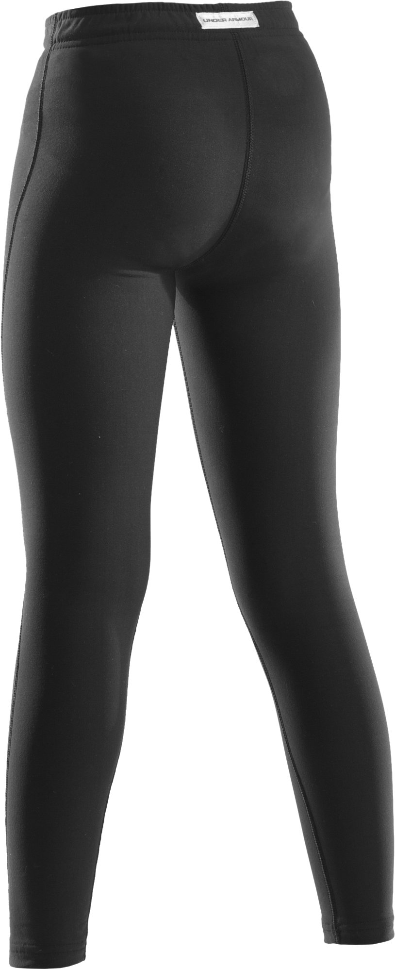 Girls' ColdGear® Fitted Leggings, Black
