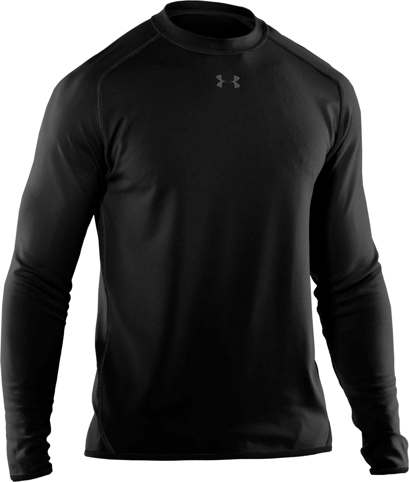 Men's AllSeasonGear® Reversible Long Sleeve Fitted Crew II, Black