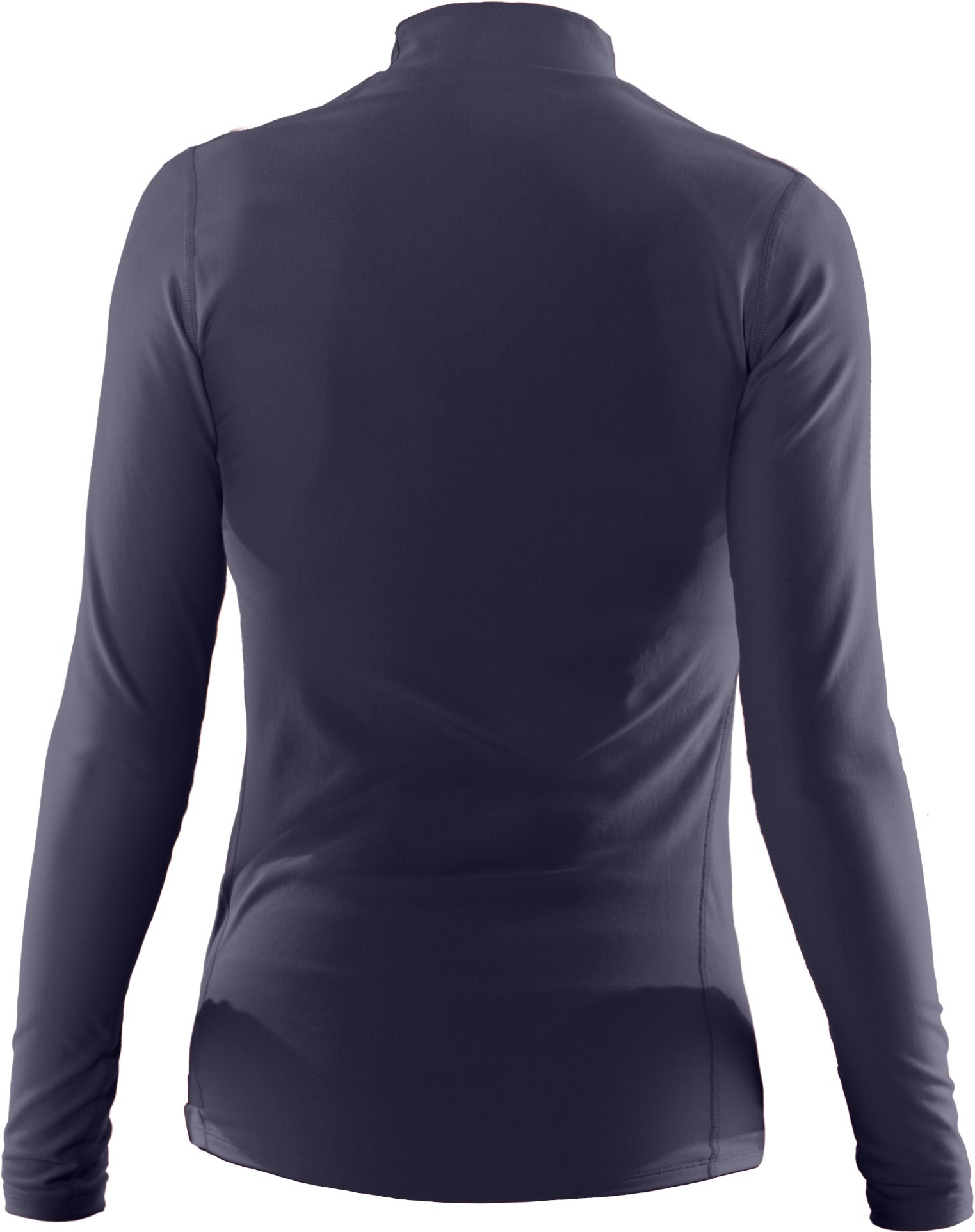 Women's UA ColdGear® Long Sleeve Compression Mock, Midnight Navy, undefined