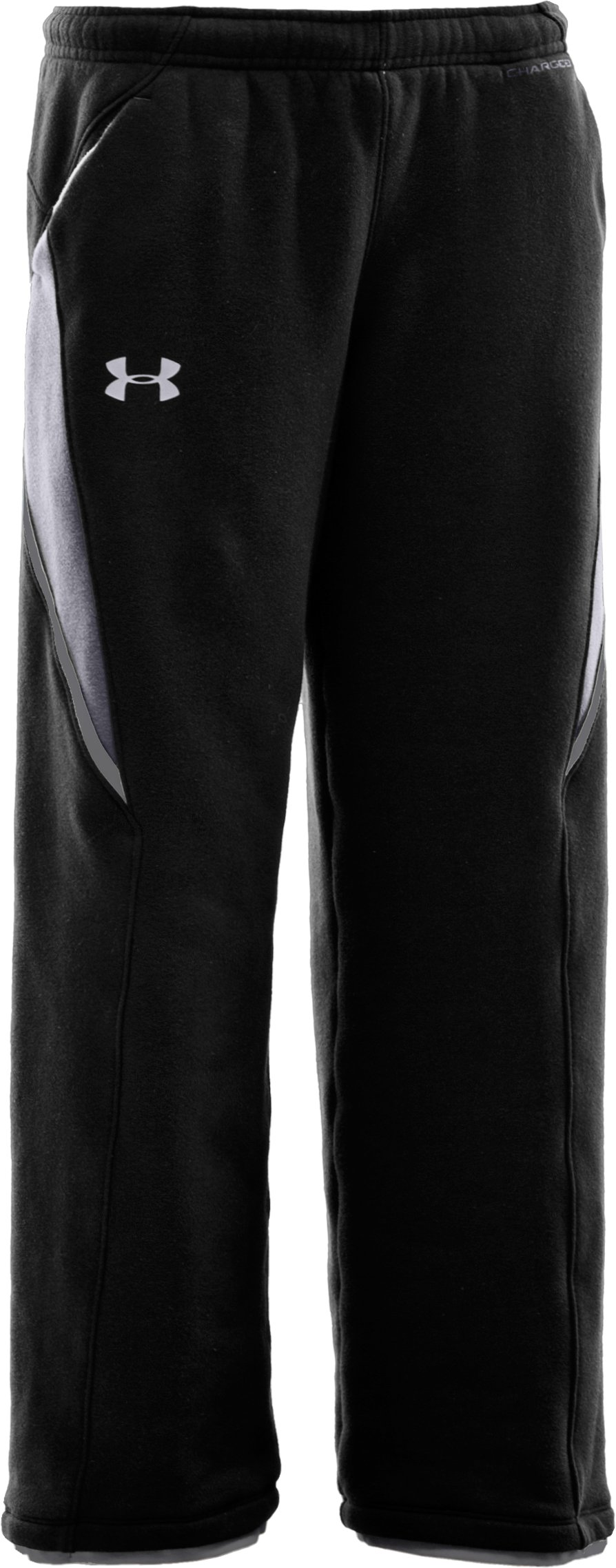 Boys' UA Charged Cotton® Storm Fleece Pants, Black