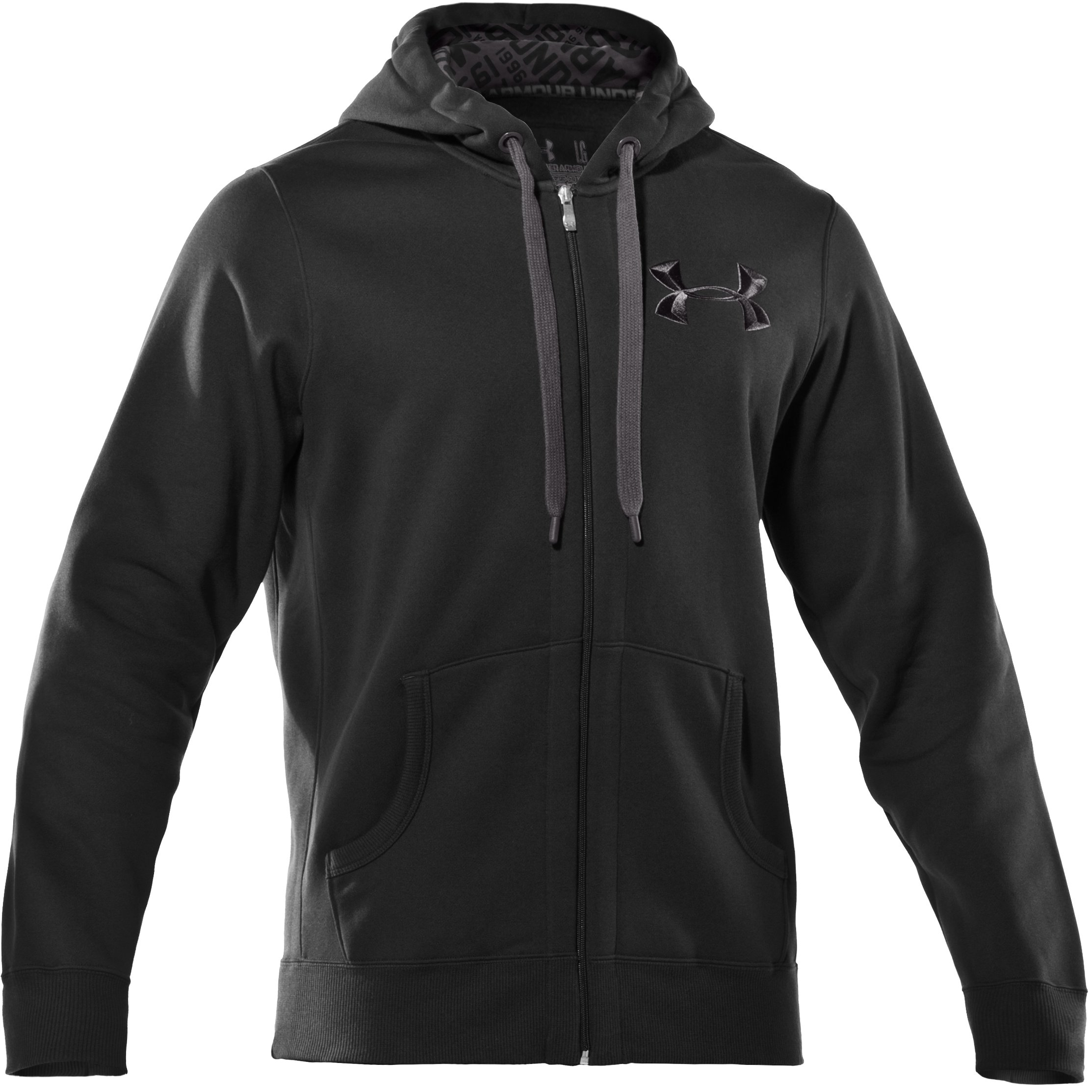 Men's UA Charged Cotton® Storm Full Zip Hoodie, Black , undefined