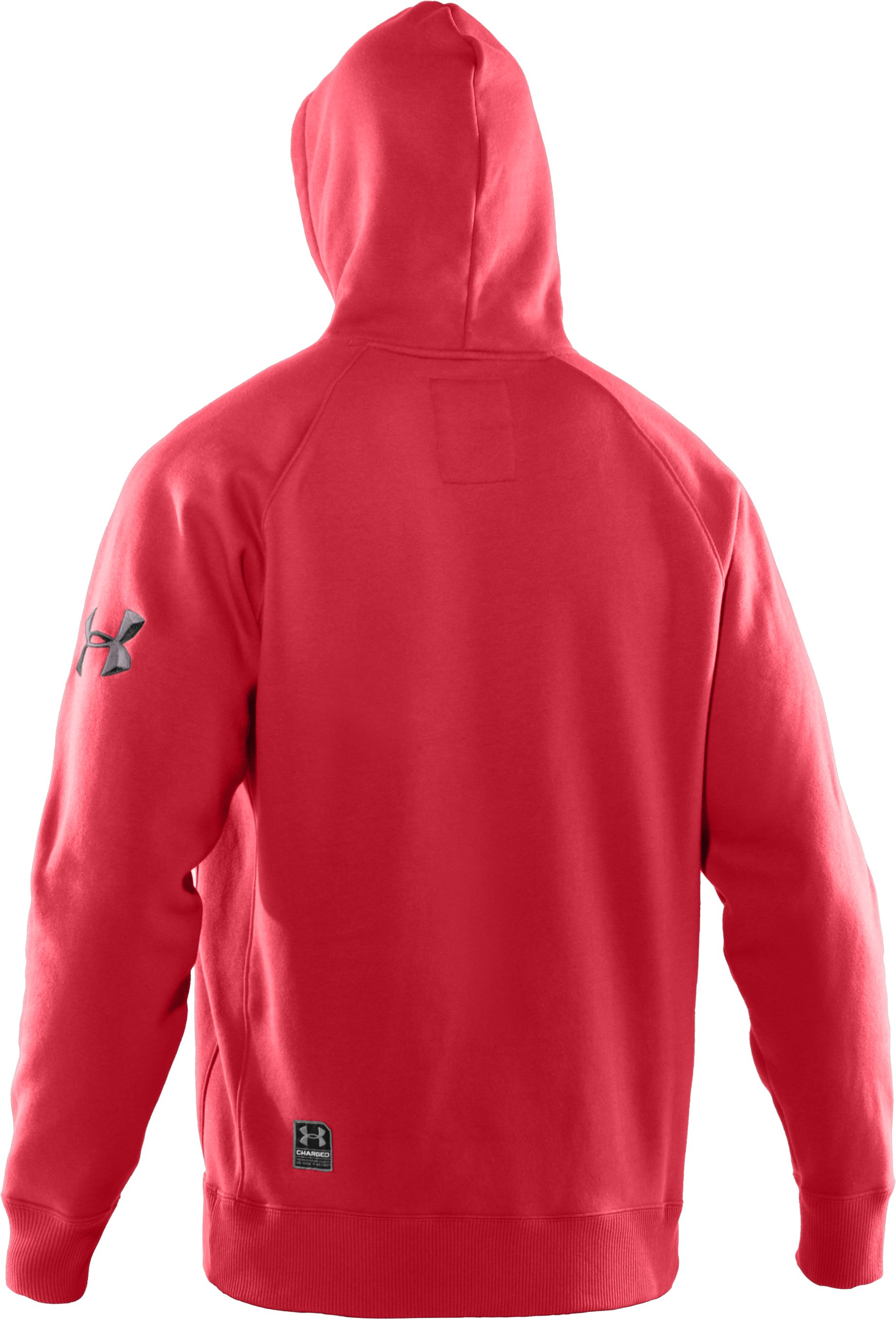 Men's UA Charged Cotton® Storm Fleece Performance Hoodie, Red