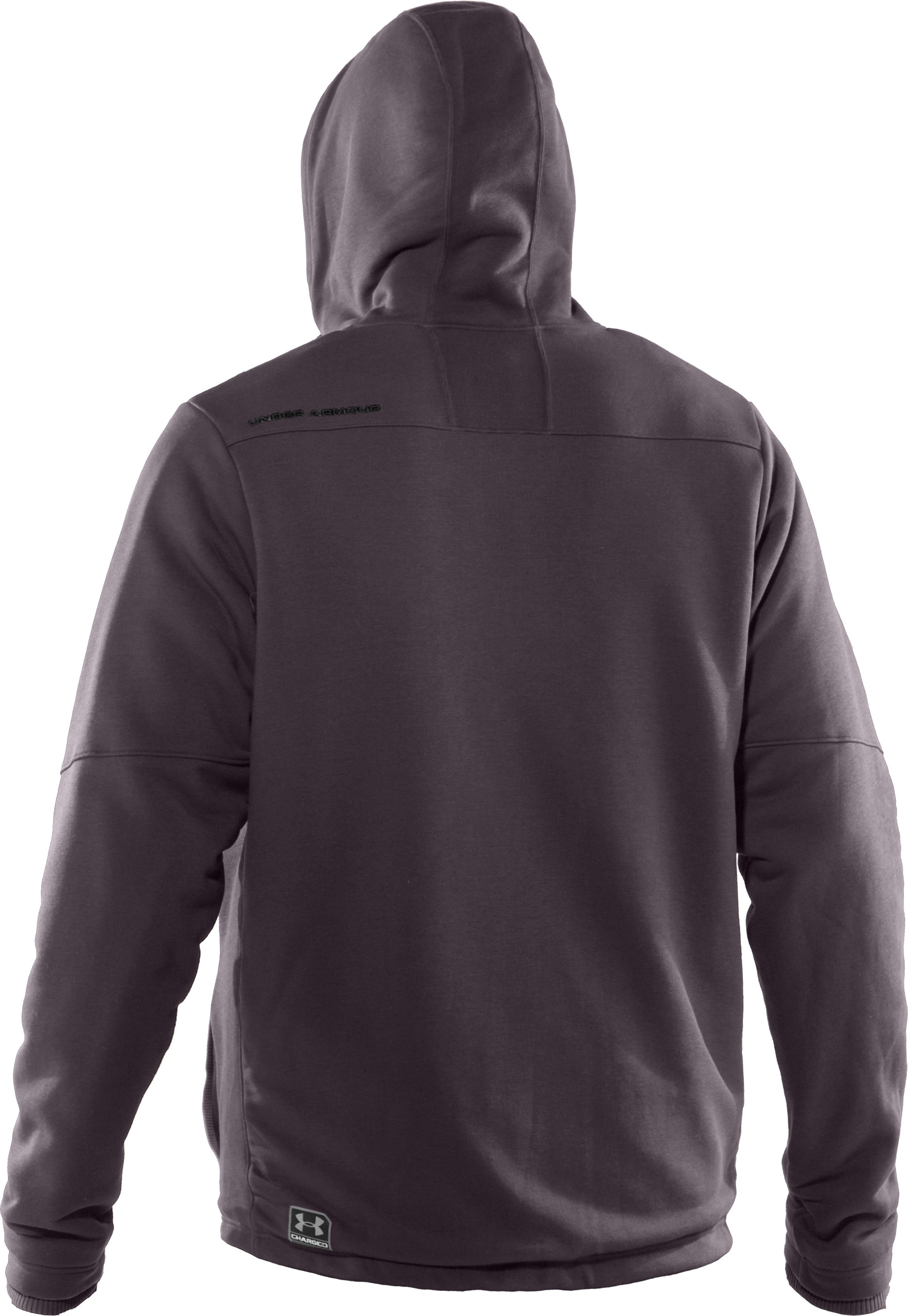 Men's UA Charged Cotton® Storm Sherpa Fleece Full Zip Hoodie, Charcoal
