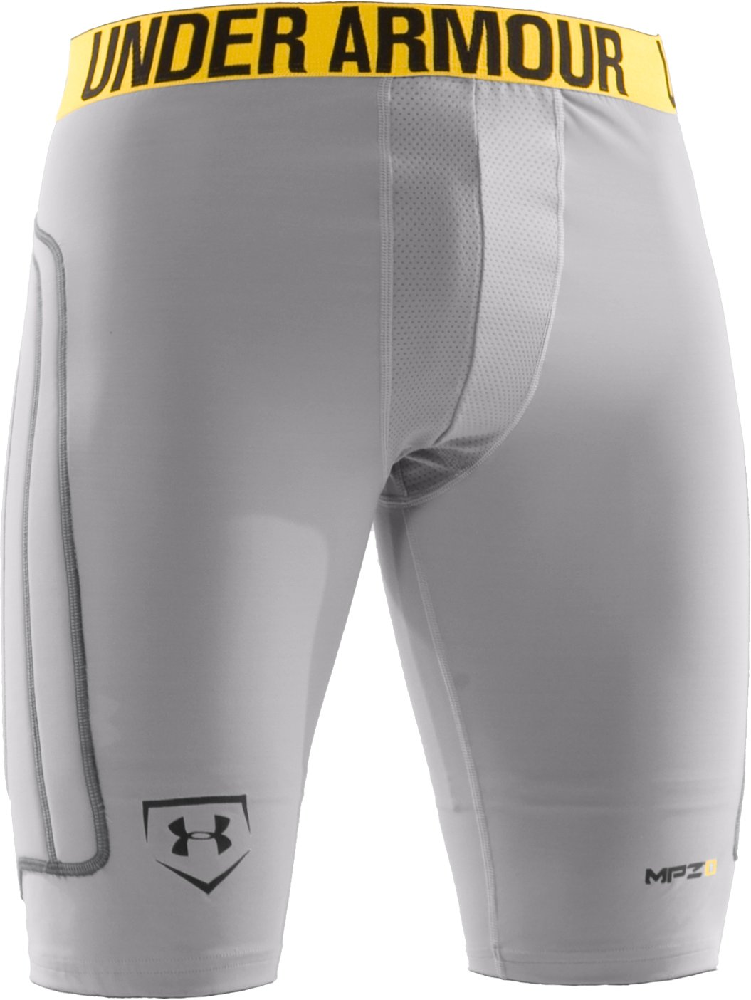 Men's Break III Compression Slider Shorts, Baseball Gray, undefined