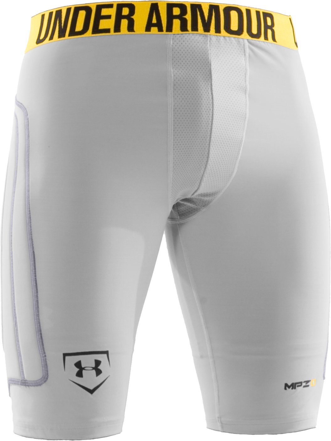 Men's Break III Compression Slider Shorts, White