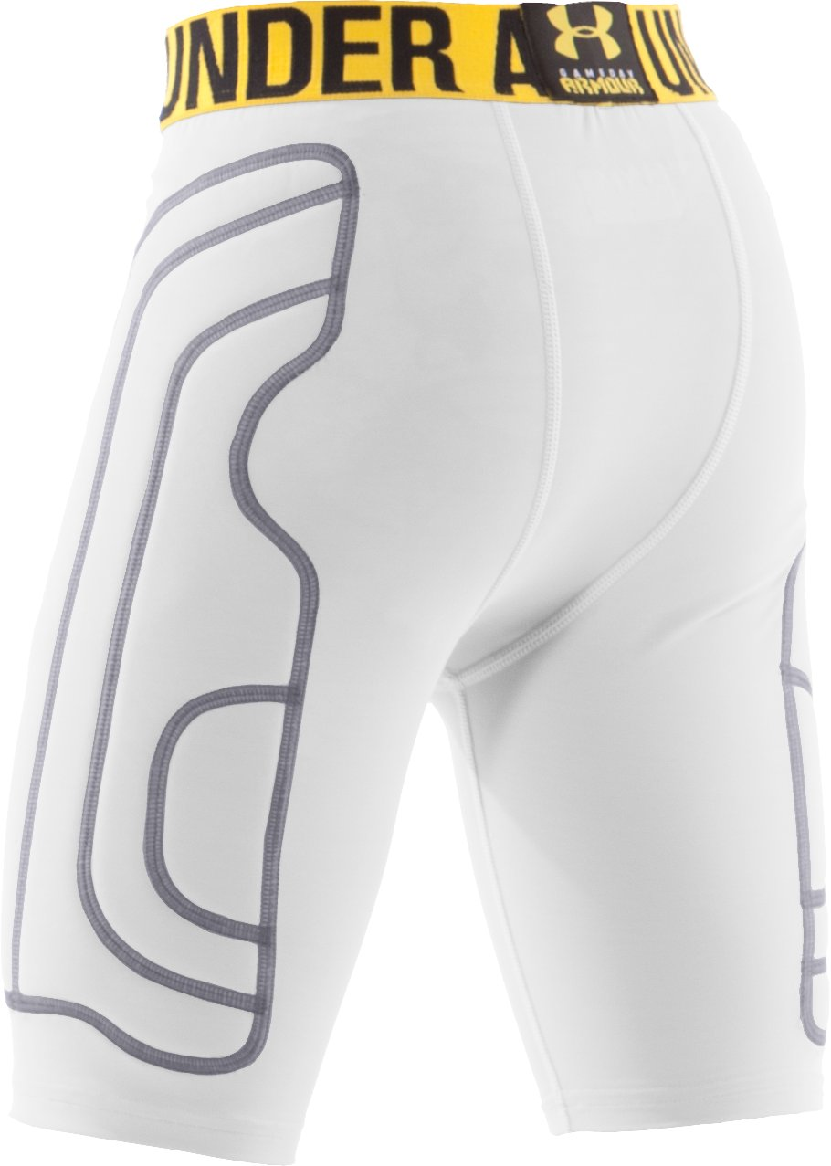 Boys' Break III Compression Slider Shorts, White