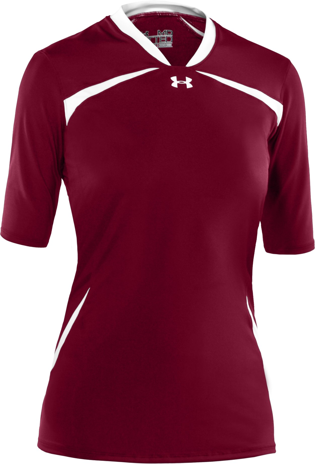 Women's UA Elevate ½ Sleeve Volleyball Jersey, Maroon