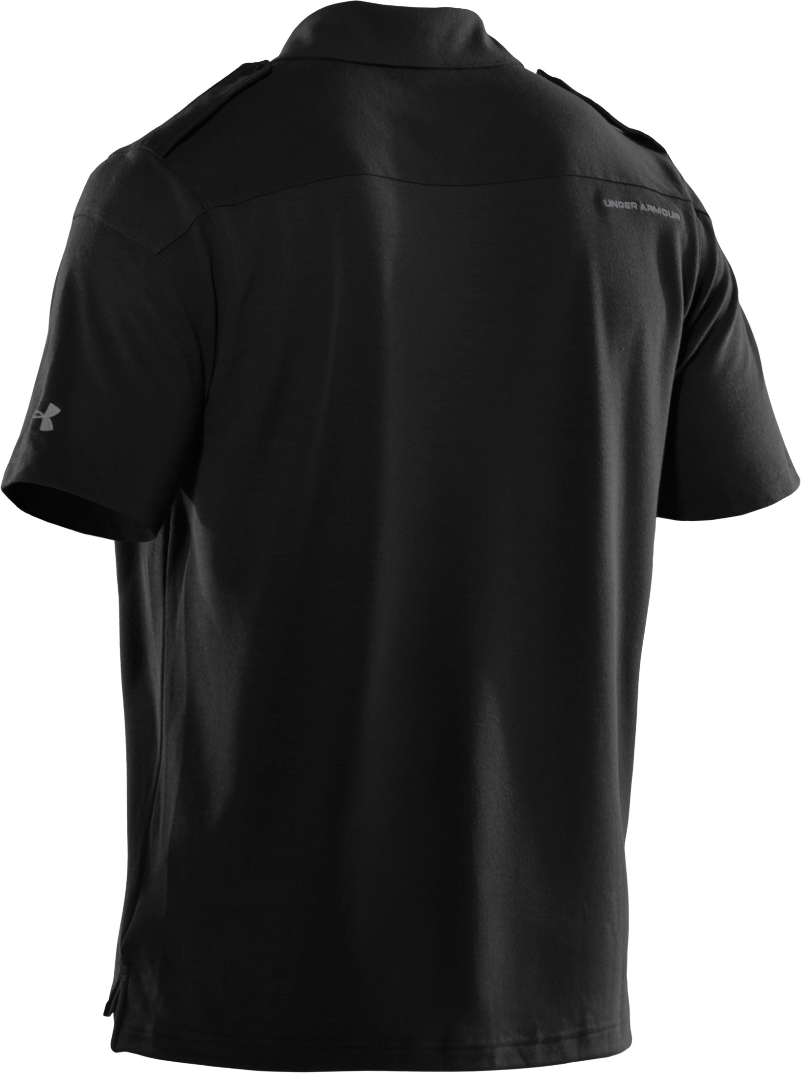 Men's UA Golf Military Polo, Black , undefined