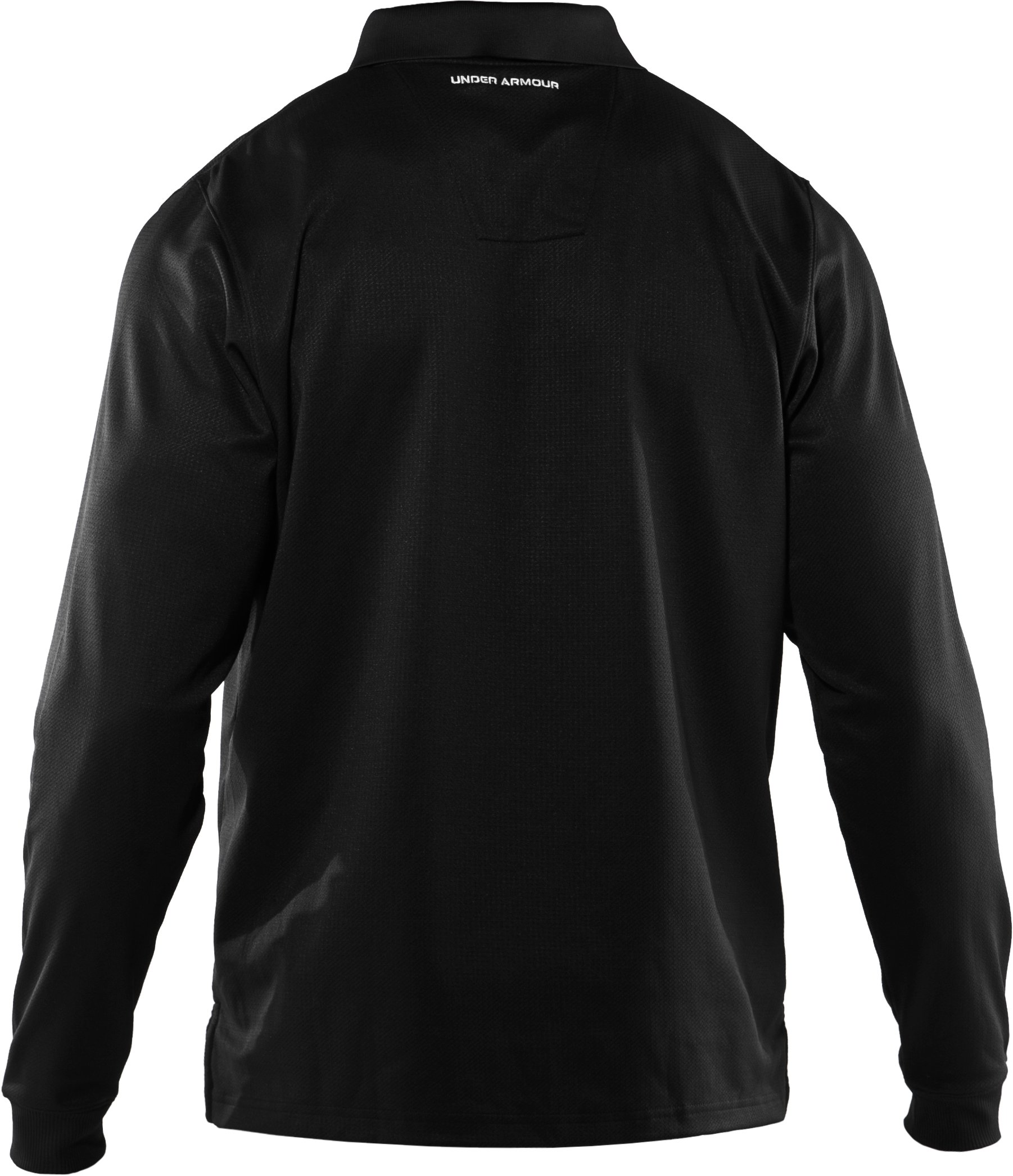 Men's UA Performance Long Sleeve Polo, Black